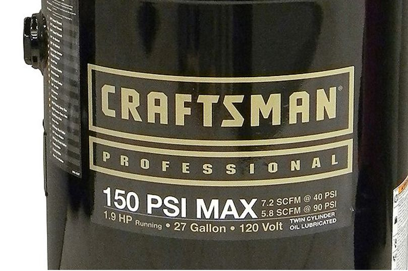Craftsman Professional 27 Gallon 1.9 RHP Oil-Lubricated Professional Air Compressor 150 Max PSI