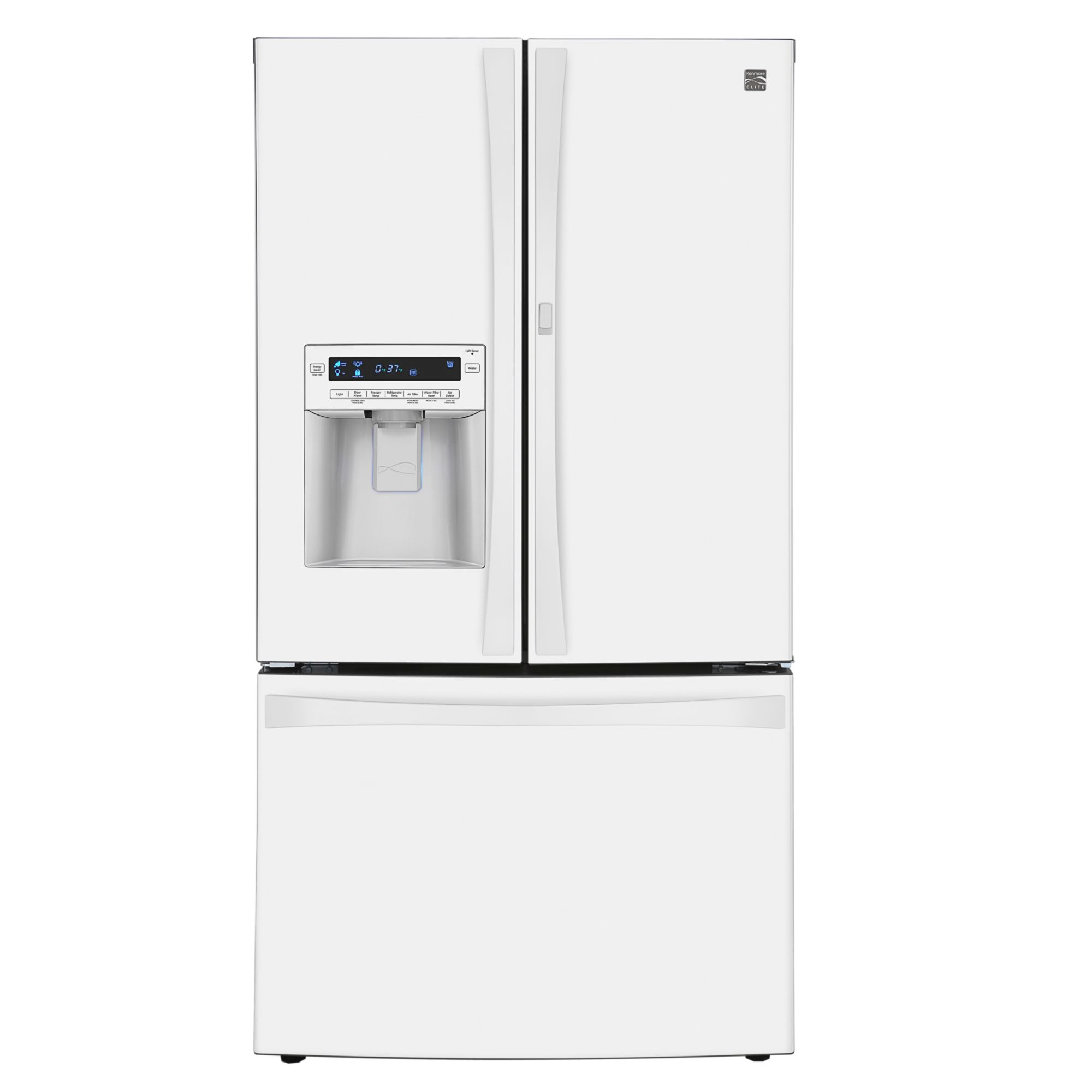 Kenmore Elite 31 cu. ft. Grab-N-Go French Door  Bottom-Freezer Refrigerator - White