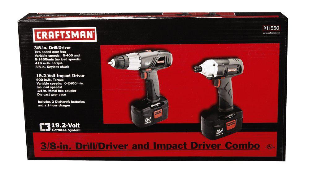 Craftsman 19.2 Volt C3 Combo Kit, Drill/Driver & Impact Driver