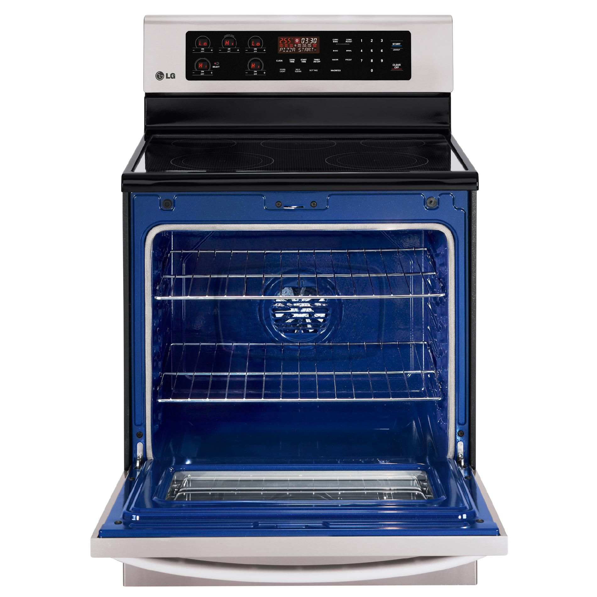 LG 6.3 cu. ft. Self-Cleaning Electric Range - Stainless Steel