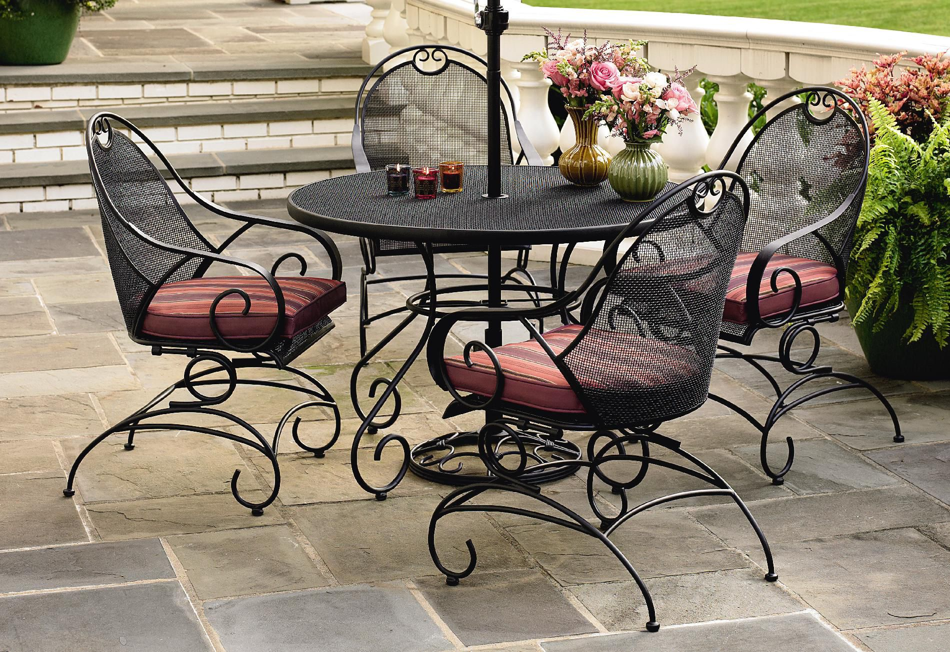 Mason Green Stanton 5 Pc. Wrought Iron Dining Set