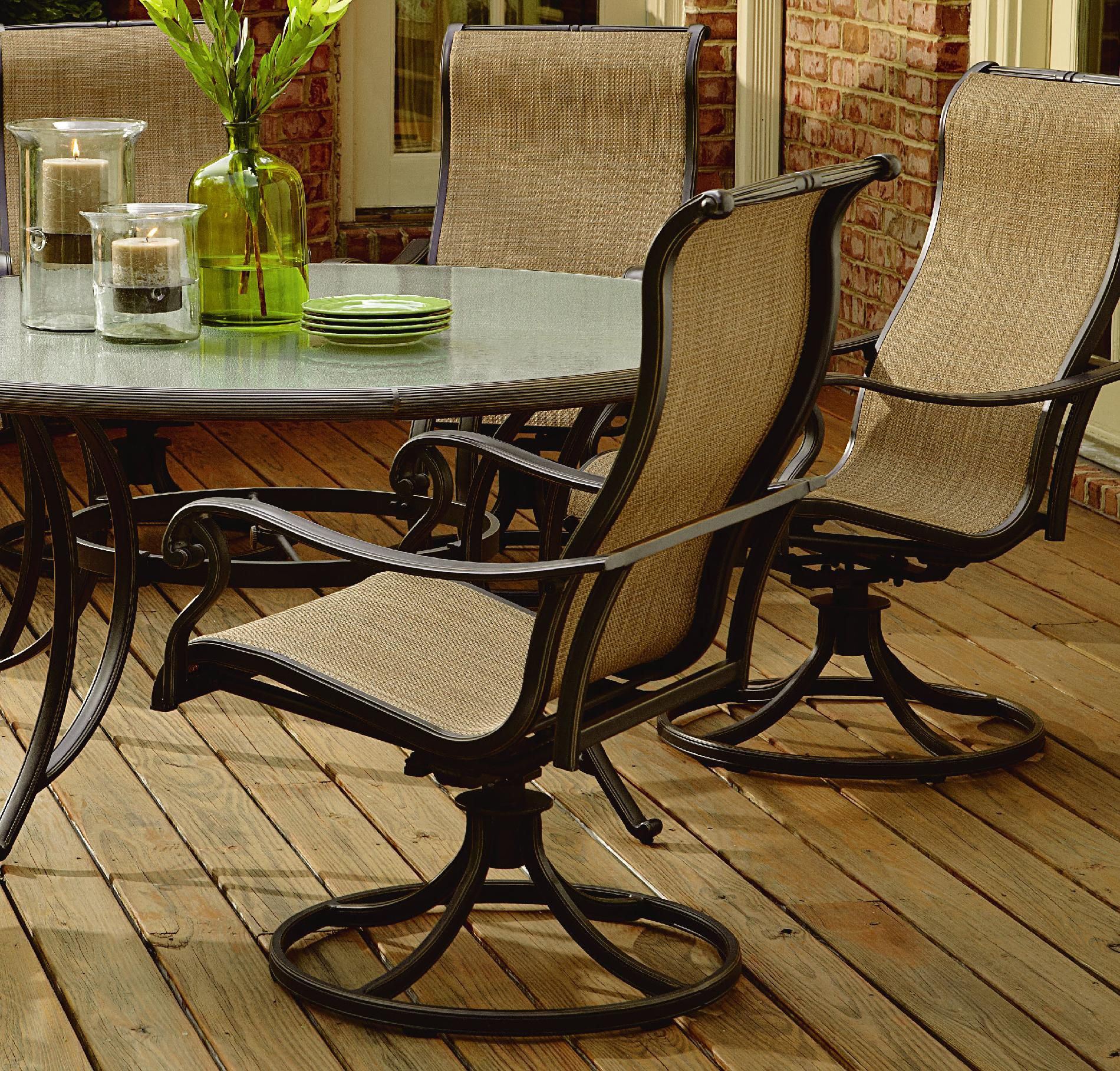 Agio Panorama 7 Pc. Round Glass Dining Set