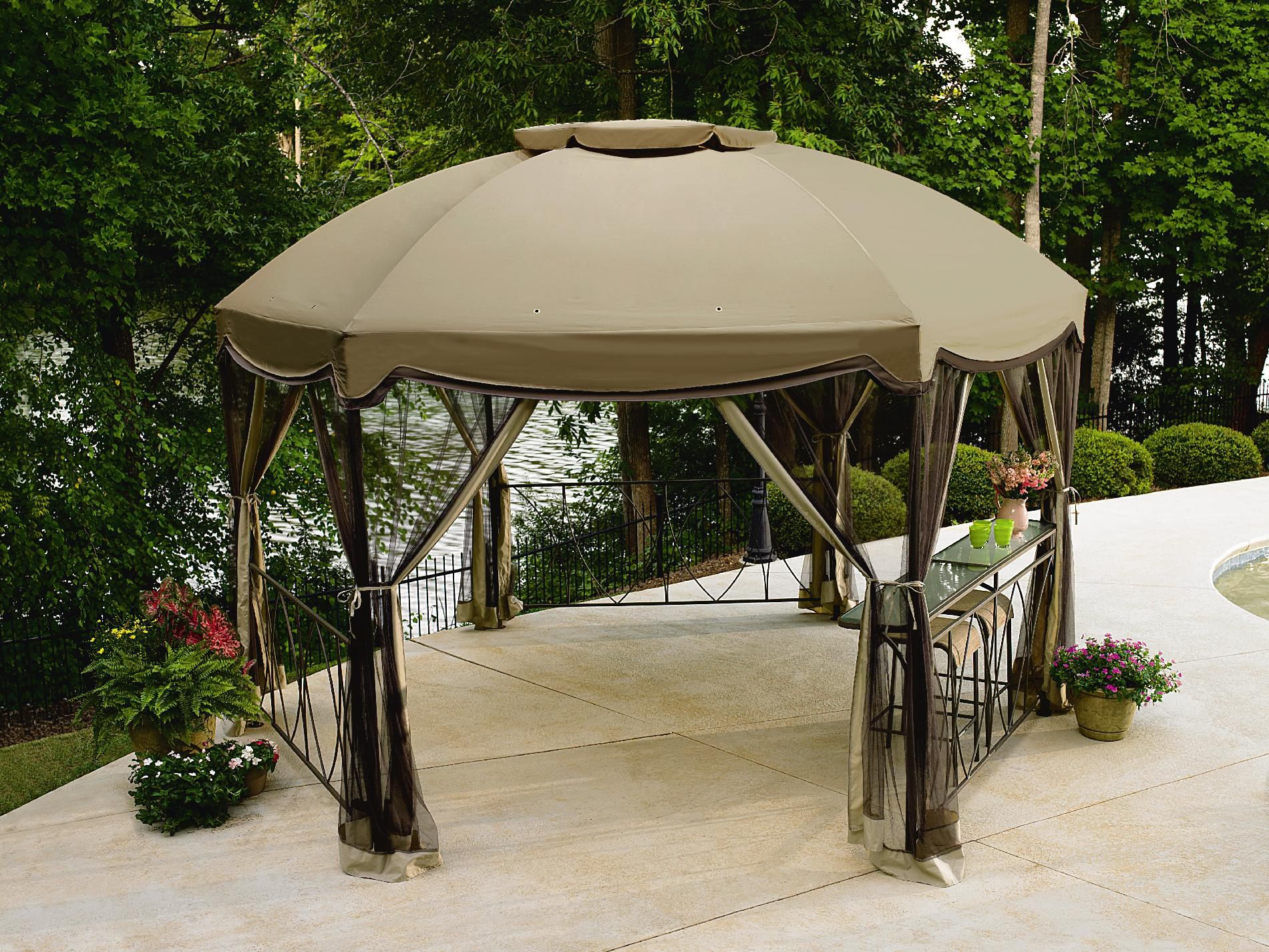 Garden Oasis Grandview Hexagon Gazebo with Netting