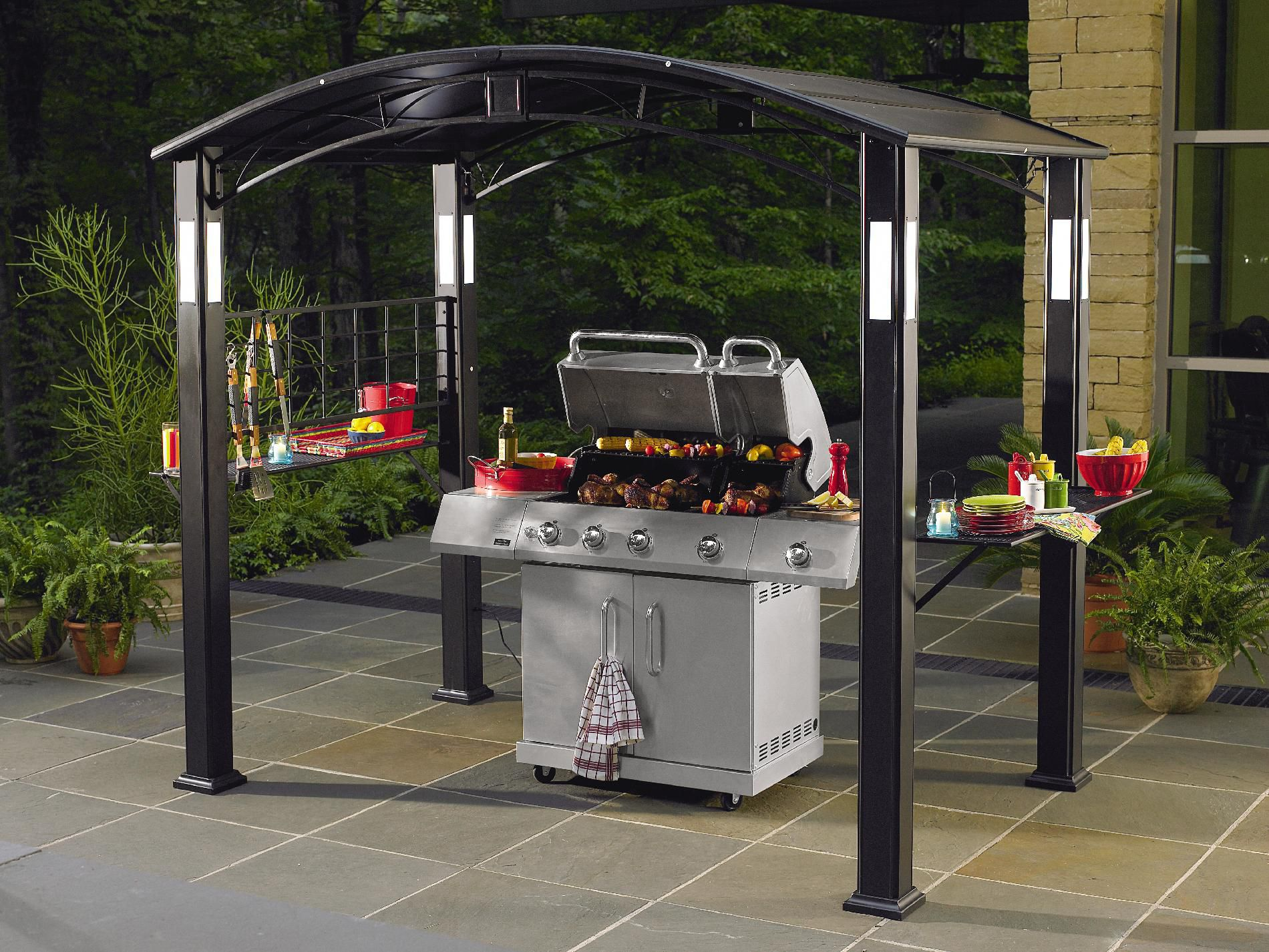 Grand Resort Grill Gazebo With Lights*
