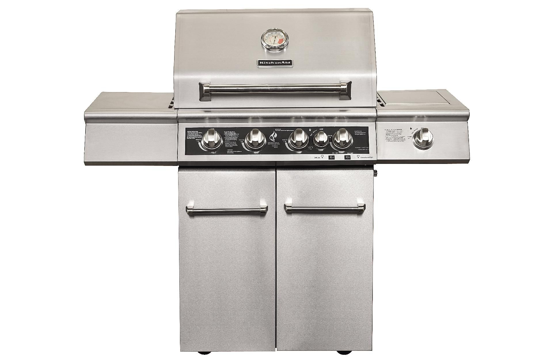 KitchenAid 4-Burner Dual Energy Outdoor Gas Grill w/ LED Backlit Control Panel