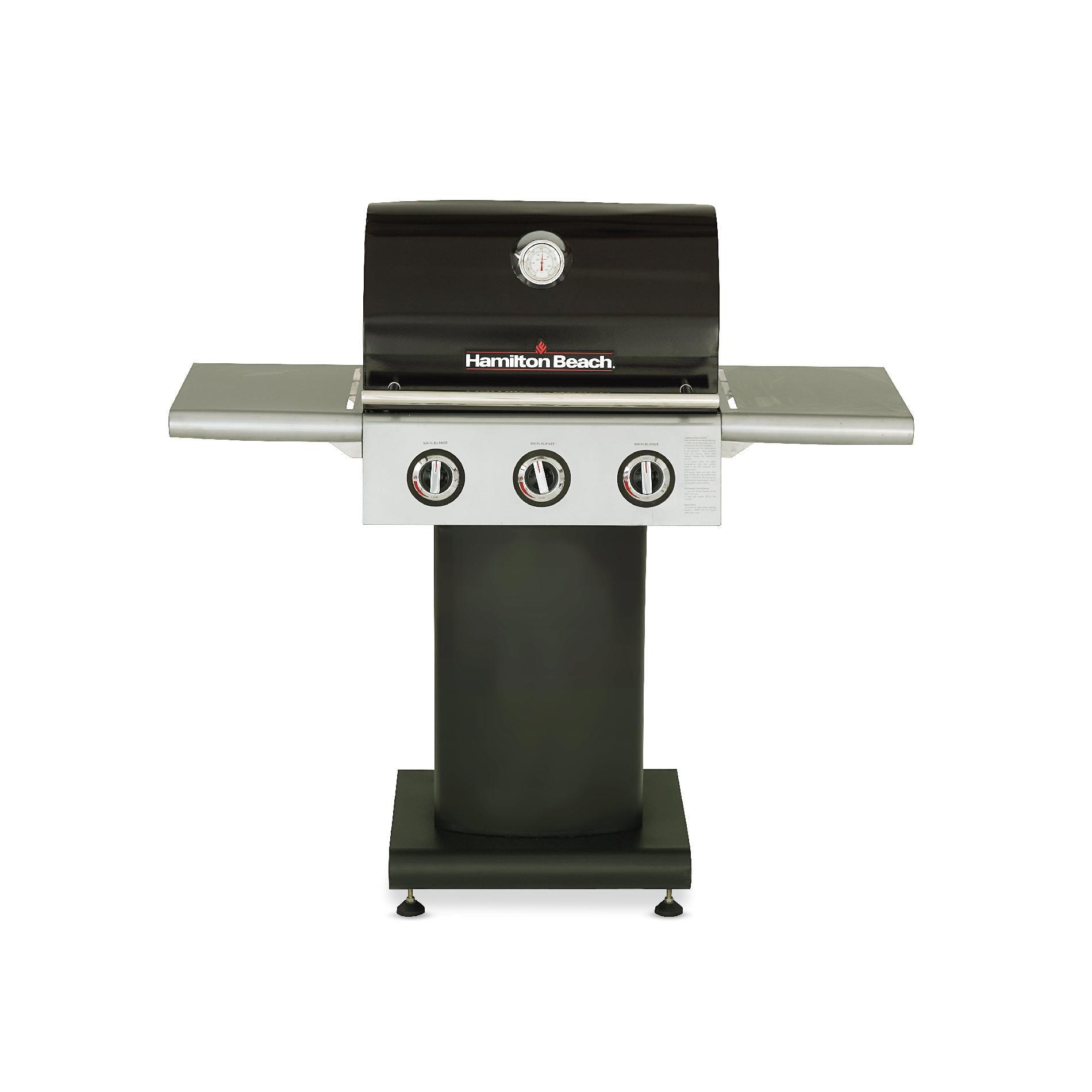 Hamilton Beach 3-Burner Pedestal Gas Grill