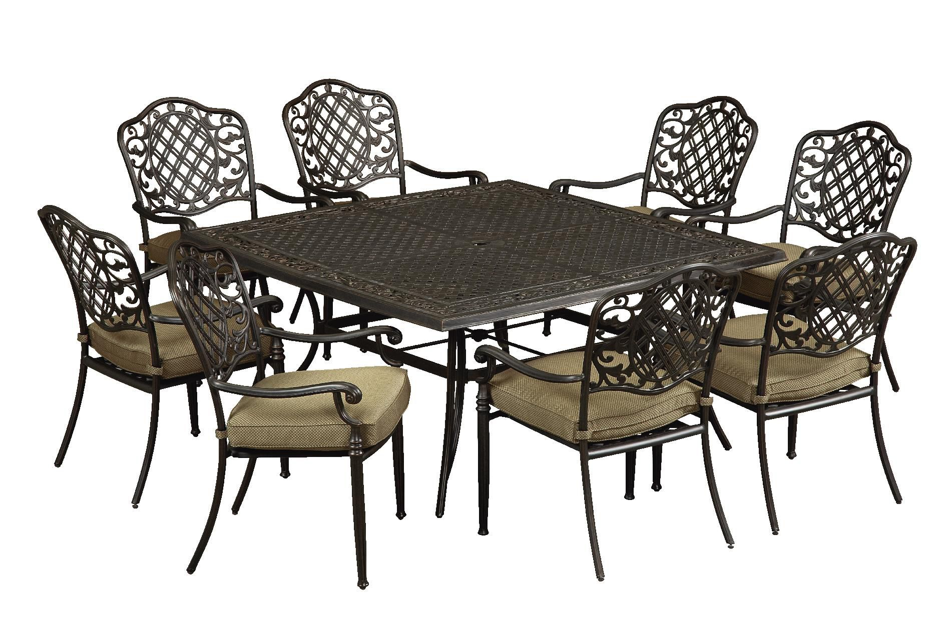 Agio Arcadia 9 Pc. Square Cast Dining Set  *Limited Availability
