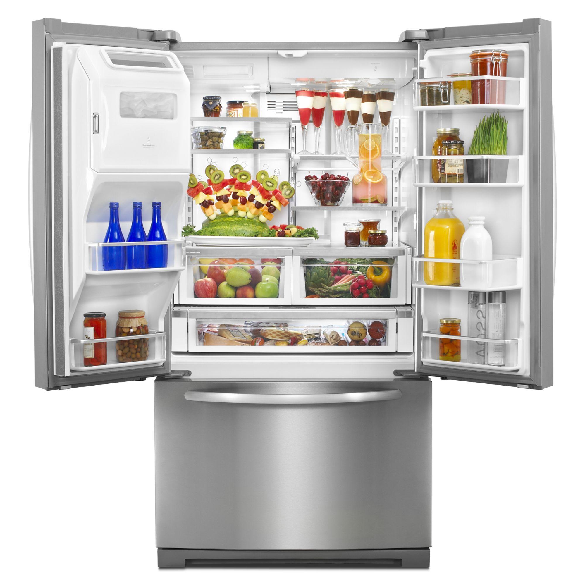 KitchenAid 28.6 cu. ft. FrenchDoor Refrigerator w/ Flush Dispenser - Stainless Steel