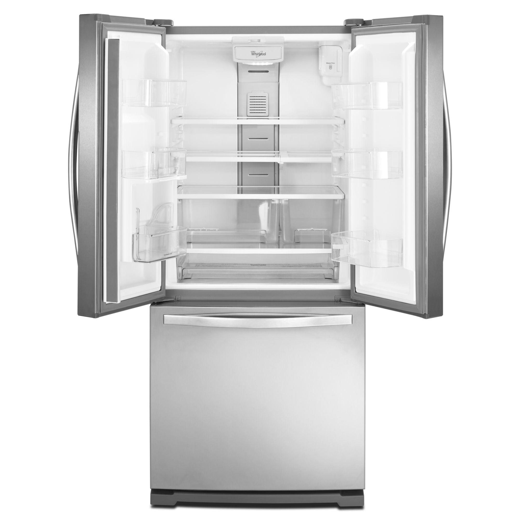 Whirlpool 19.6 cu. ft. French Door Refrigerator w/ Exterior Dispenser - Stainless Steel