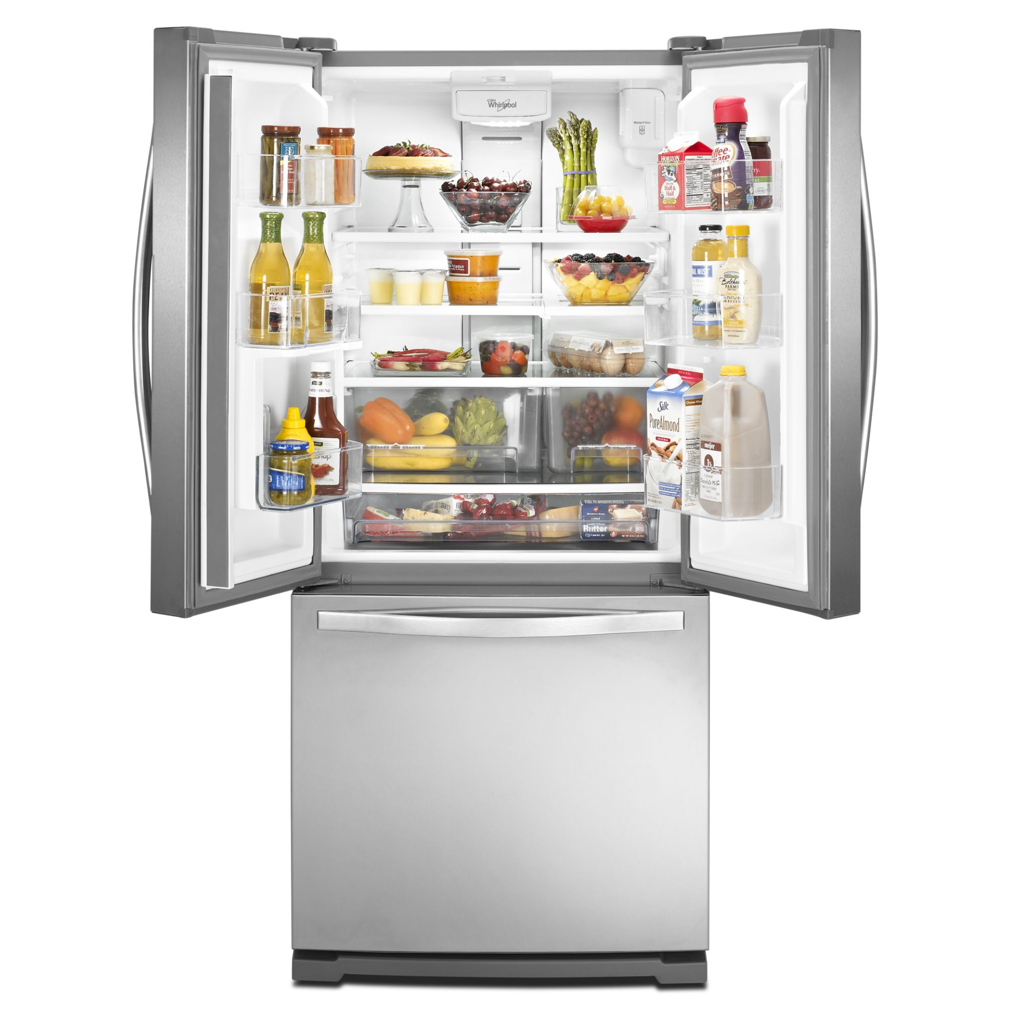 Whirlpool WRF560SEYM 19.7 cu. ft. French Door Refrigerator w/ Exterior Dispenser - Stainless Steel