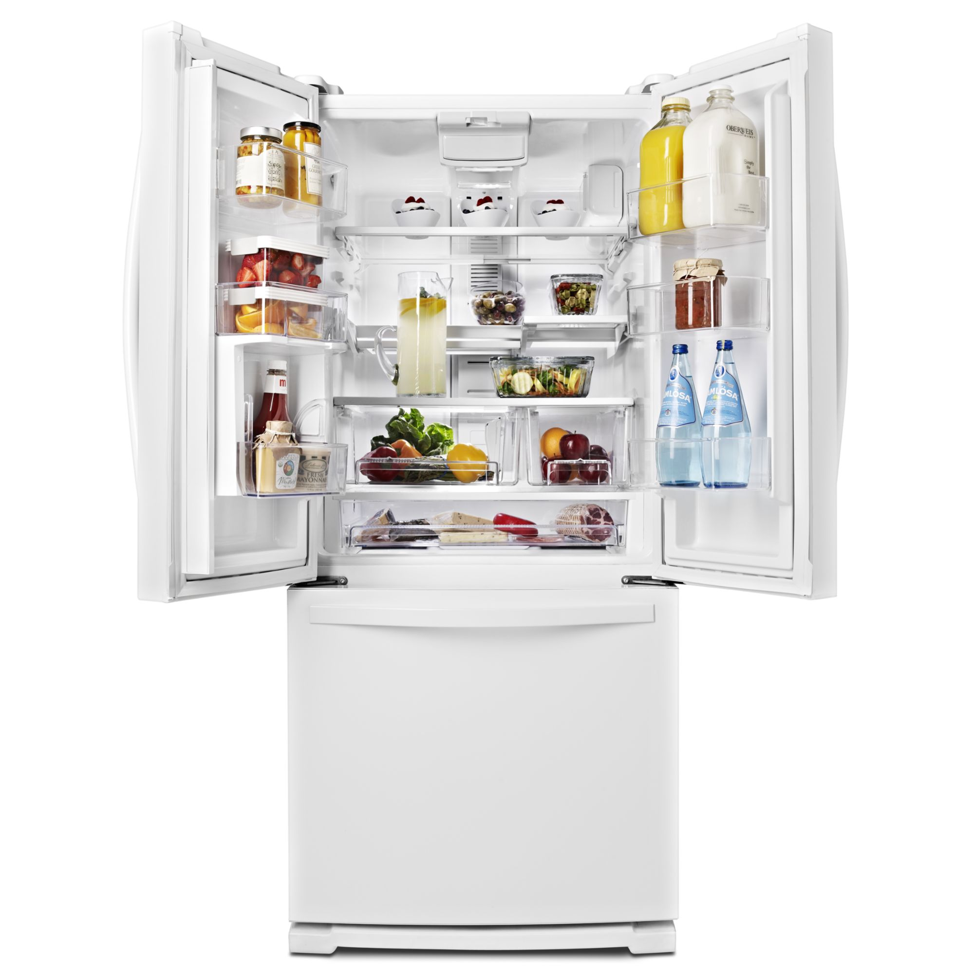 Whirlpool WRF560SEYW 19.7 cu. ft. French Door Refrigerator w/ Exterior Dispenser - White