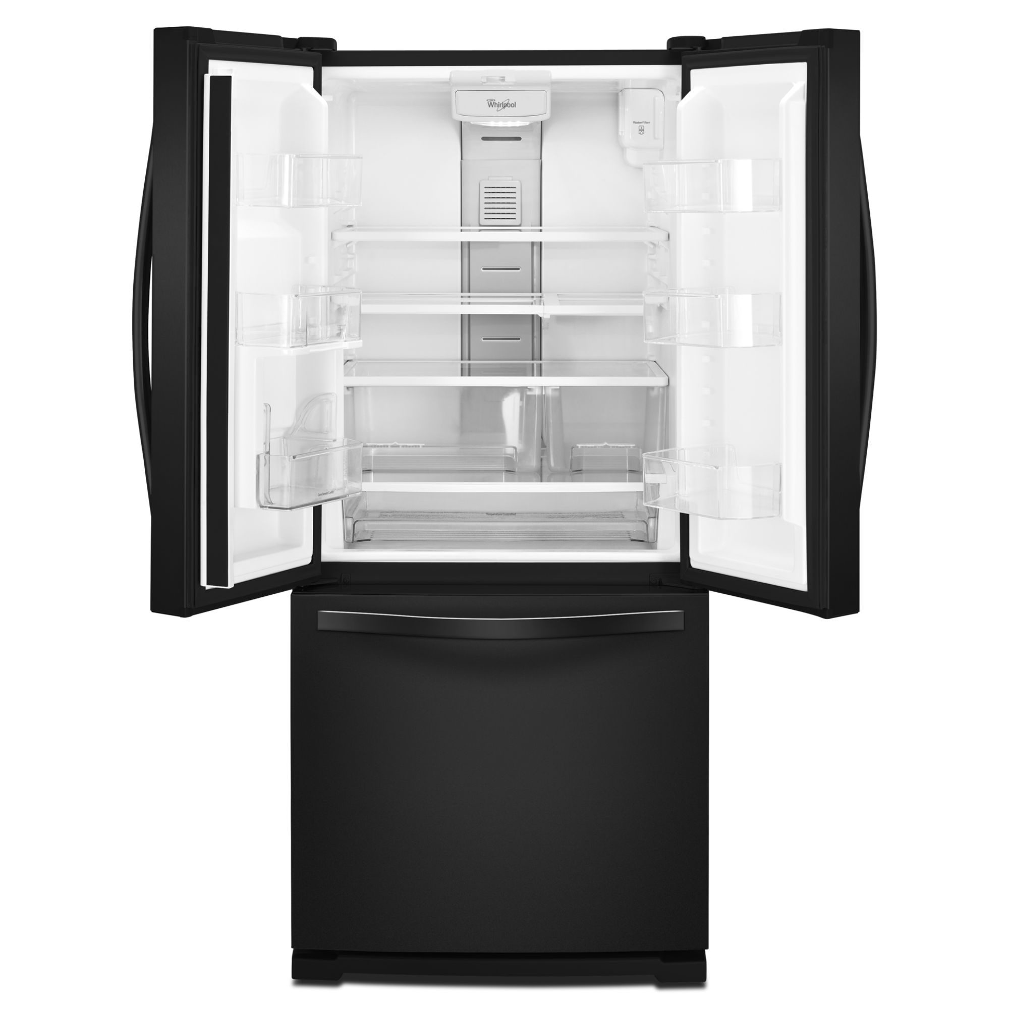 Whirlpool 19.6 cu. ft. French Door Refrigerator w/ Exterior Dispenser - Black