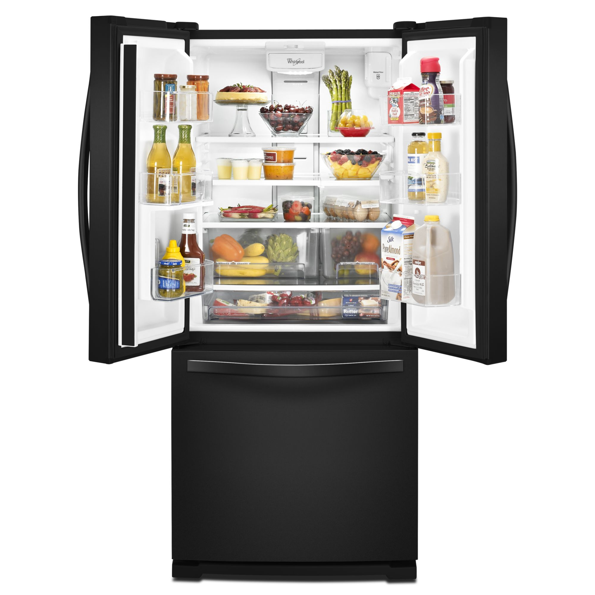 Whirlpool WRF560SEYB 19.7 cu. ft. French Door Black Refrigerator