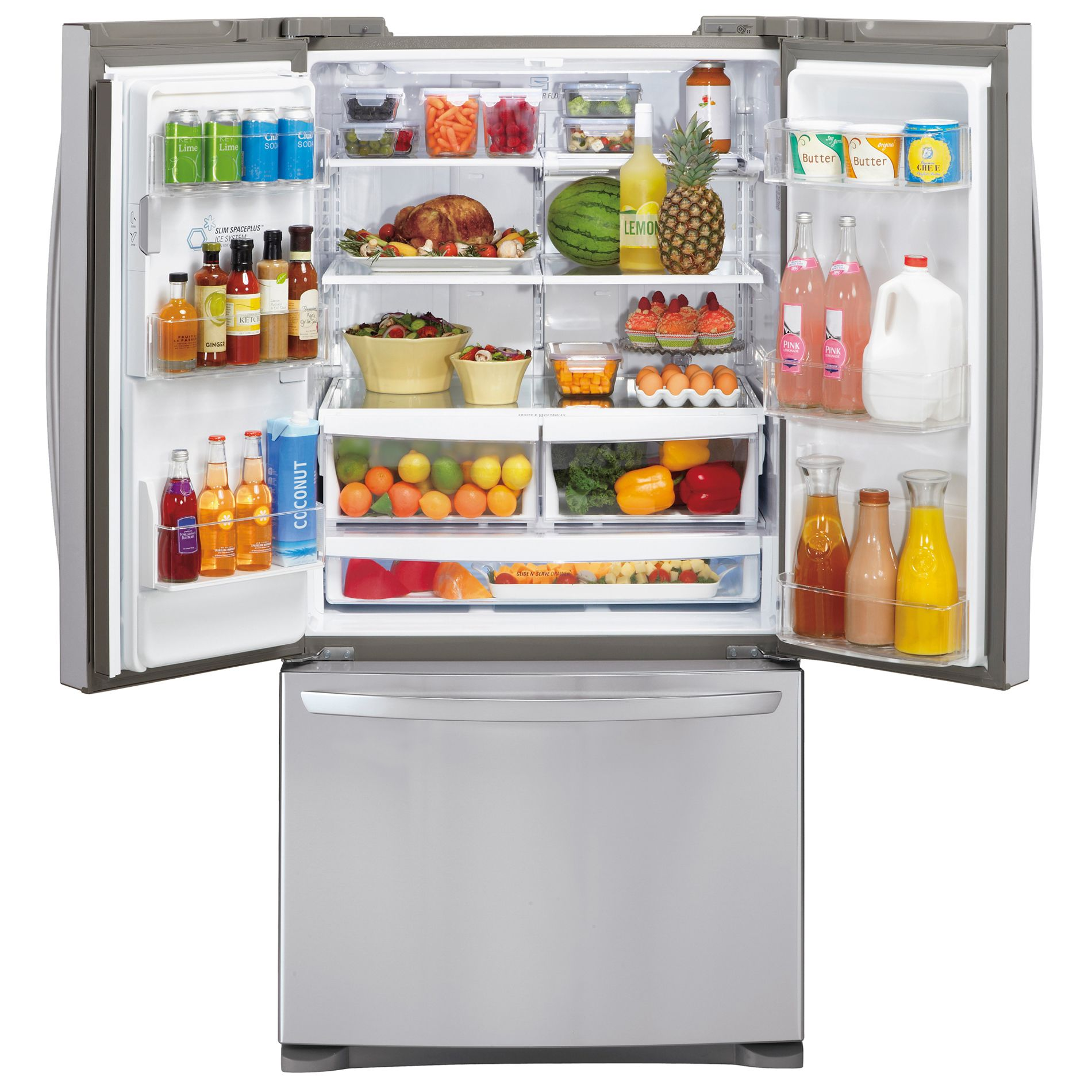 LG LFX28968ST 26.8 cu. ft.  French Door Bottom-Freezer Refrigerator - Stainless Steel