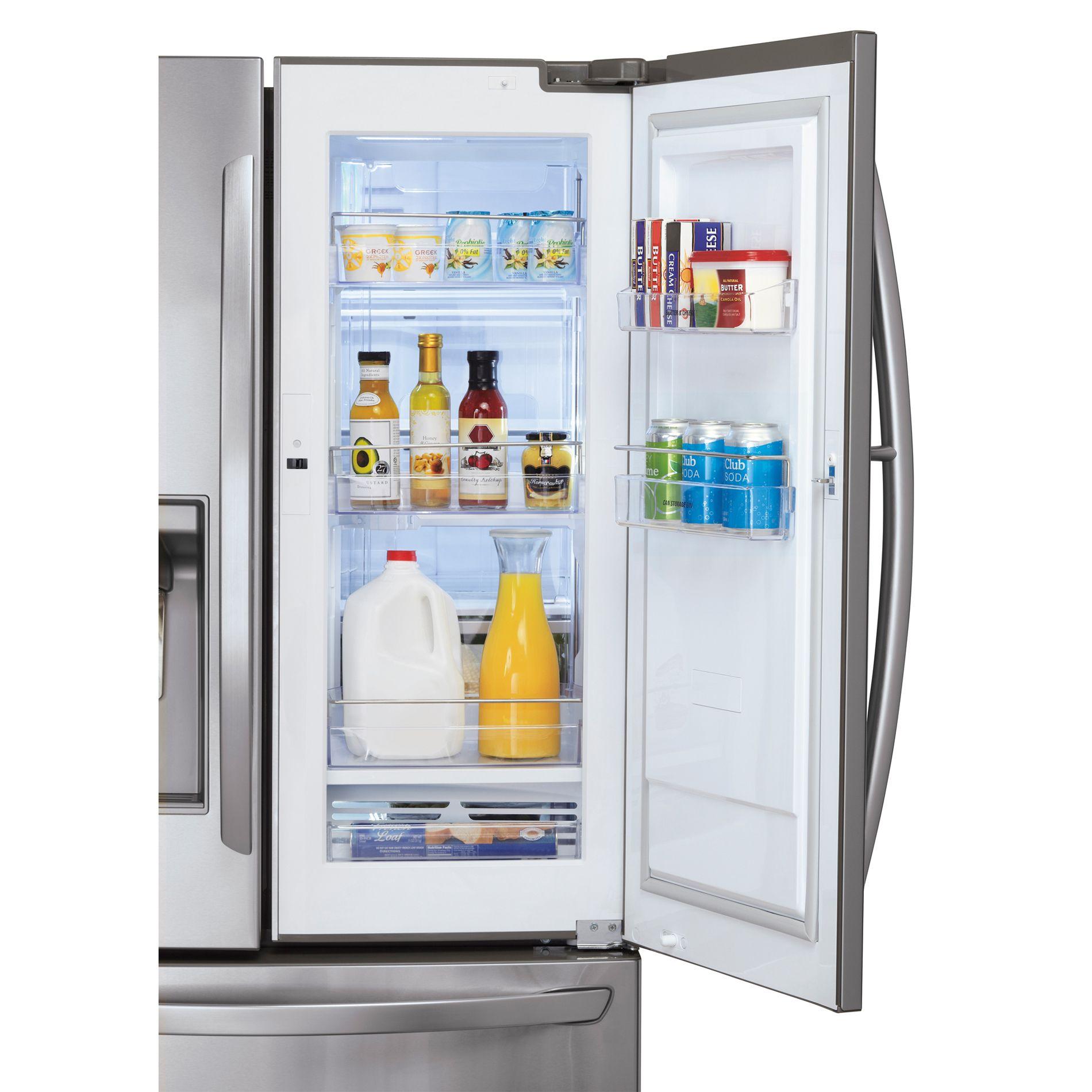 LG 31 cu. ft.  Door-In-Door French Door Bottom-Freezer Refrigerator - Stainless Steel