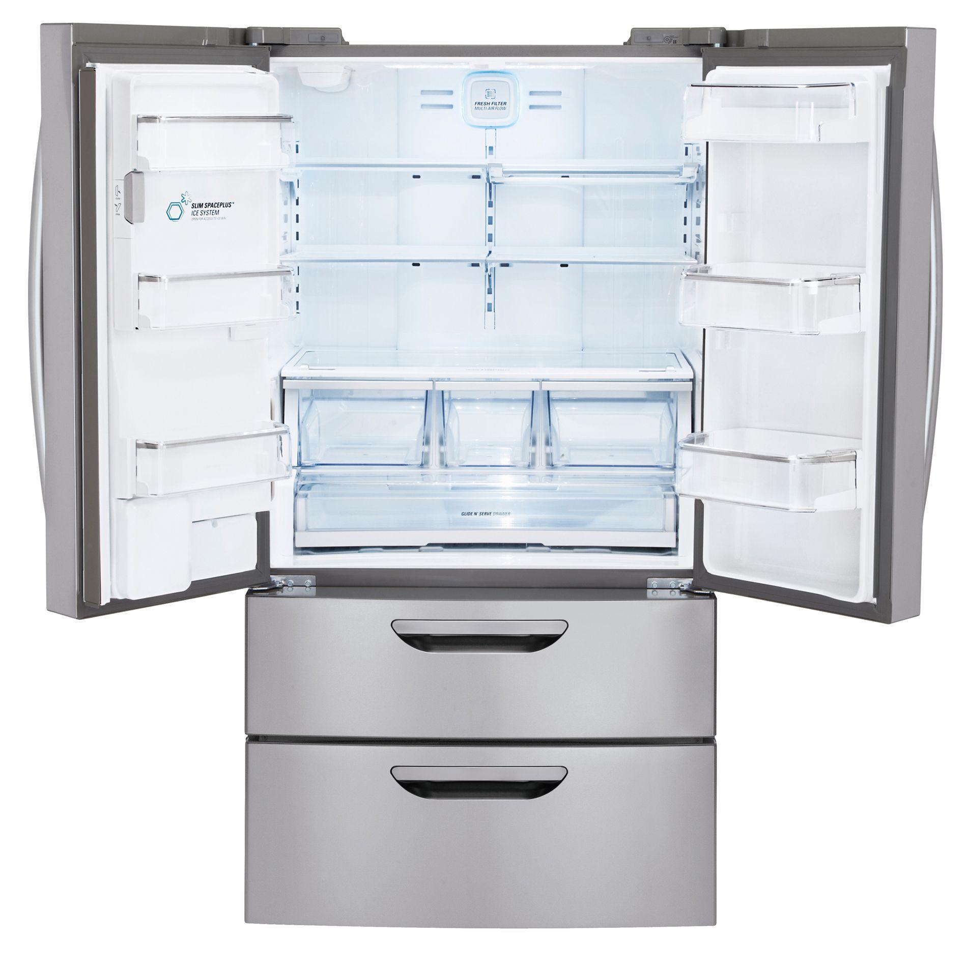 LG 31 cu. ft.  French Door Bottom-Freezer Refrigerator w Dual-Freezer-Drawer - Stainless Steel