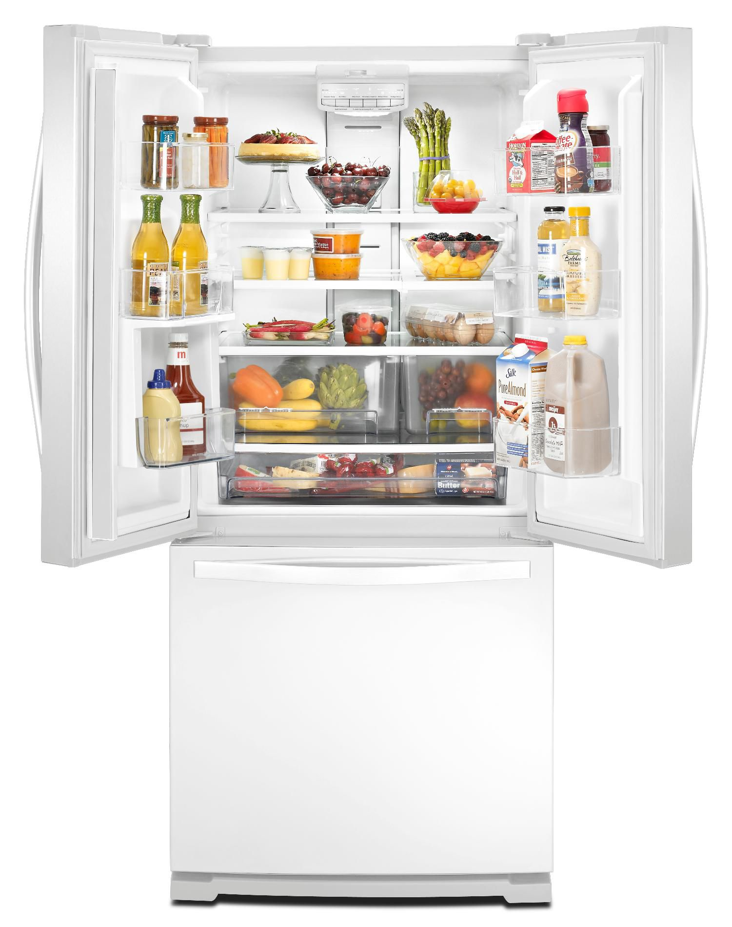 Whirlpool 20 cu. ft. French Door Refrigerator w/ 30 in. Wide Footprint - White