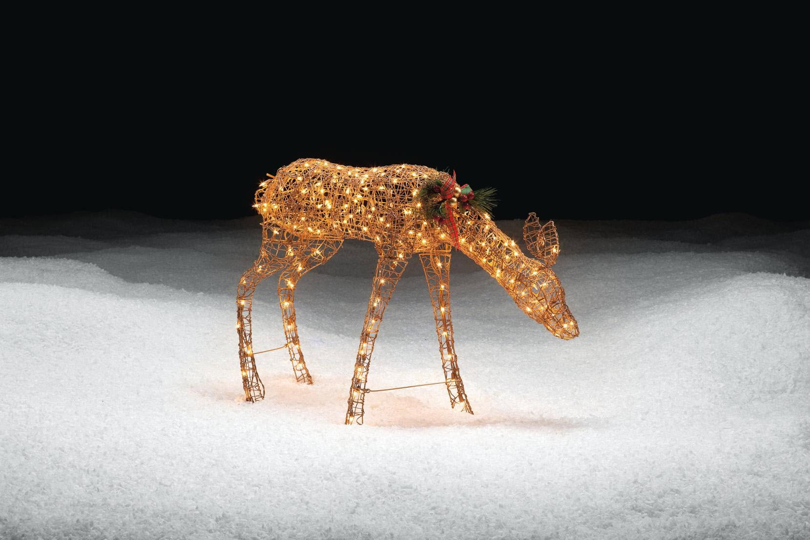 Trim A Home® 30in Lighted Gold Doe Christmas Decoration