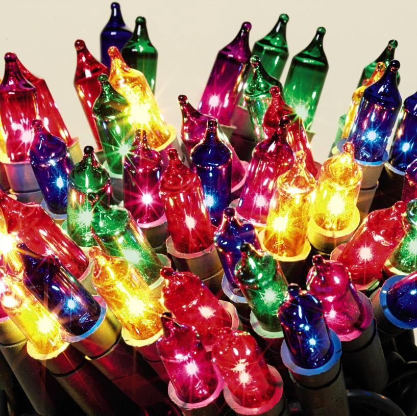 General Electric 150 Clear Bulb Icicle Style Multi Color Set