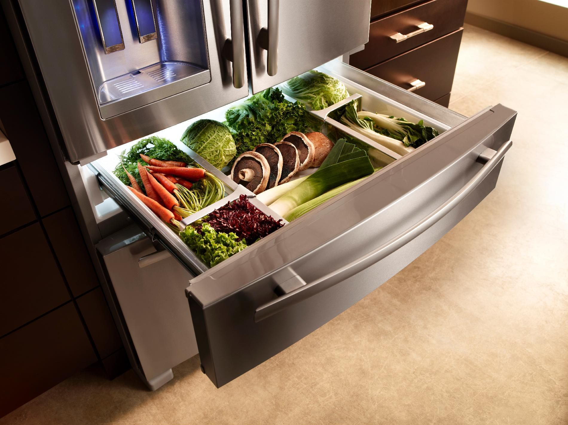 Jenn-Air 25 cu. ft. French-Door Refrigerator w/ 3rd Drawer - Stainless Steel