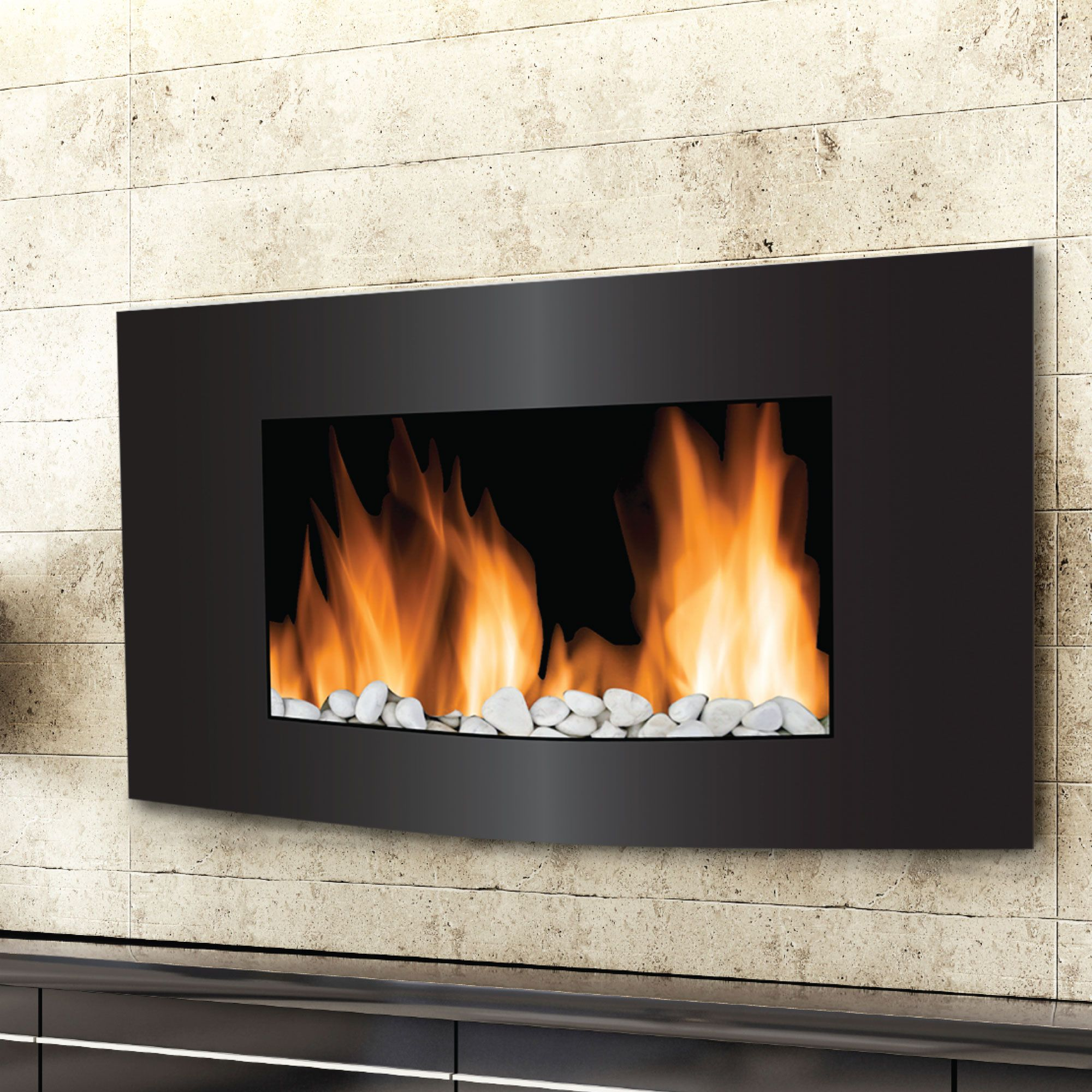 Frigidaire Vienna 2 in 1 Fireplace w/ Color Changing Flame