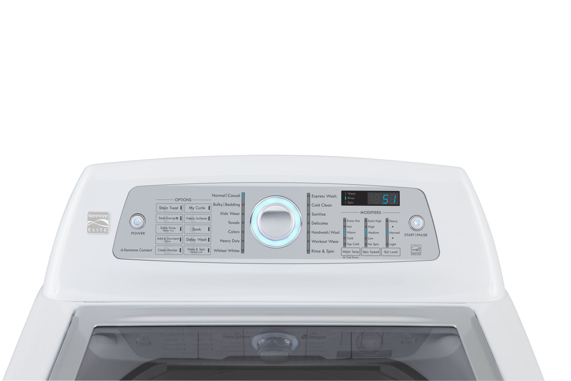 Kenmore Elite 4.7 cu. ft. High-Efficiency Top-Load Washer - White