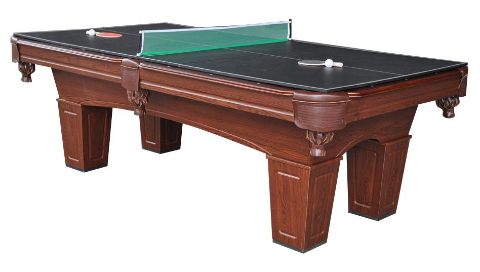 MD Sports 8ft Brenham Billiard Table w/ BONUS Table Tennis Top