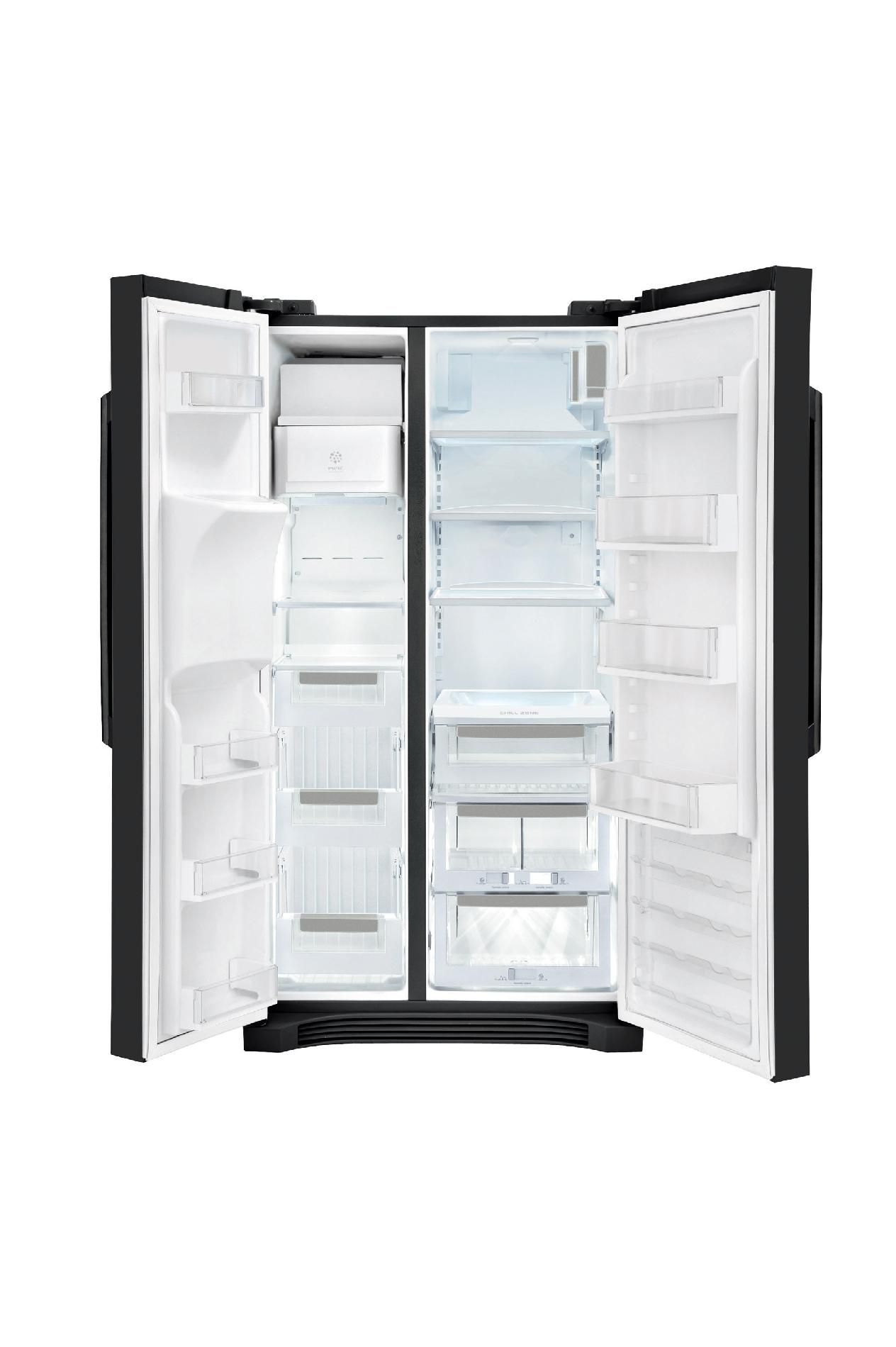 Electrolux 22.6 cu. ft. Counter-Depth Side-By-Side Refrigerator - Black