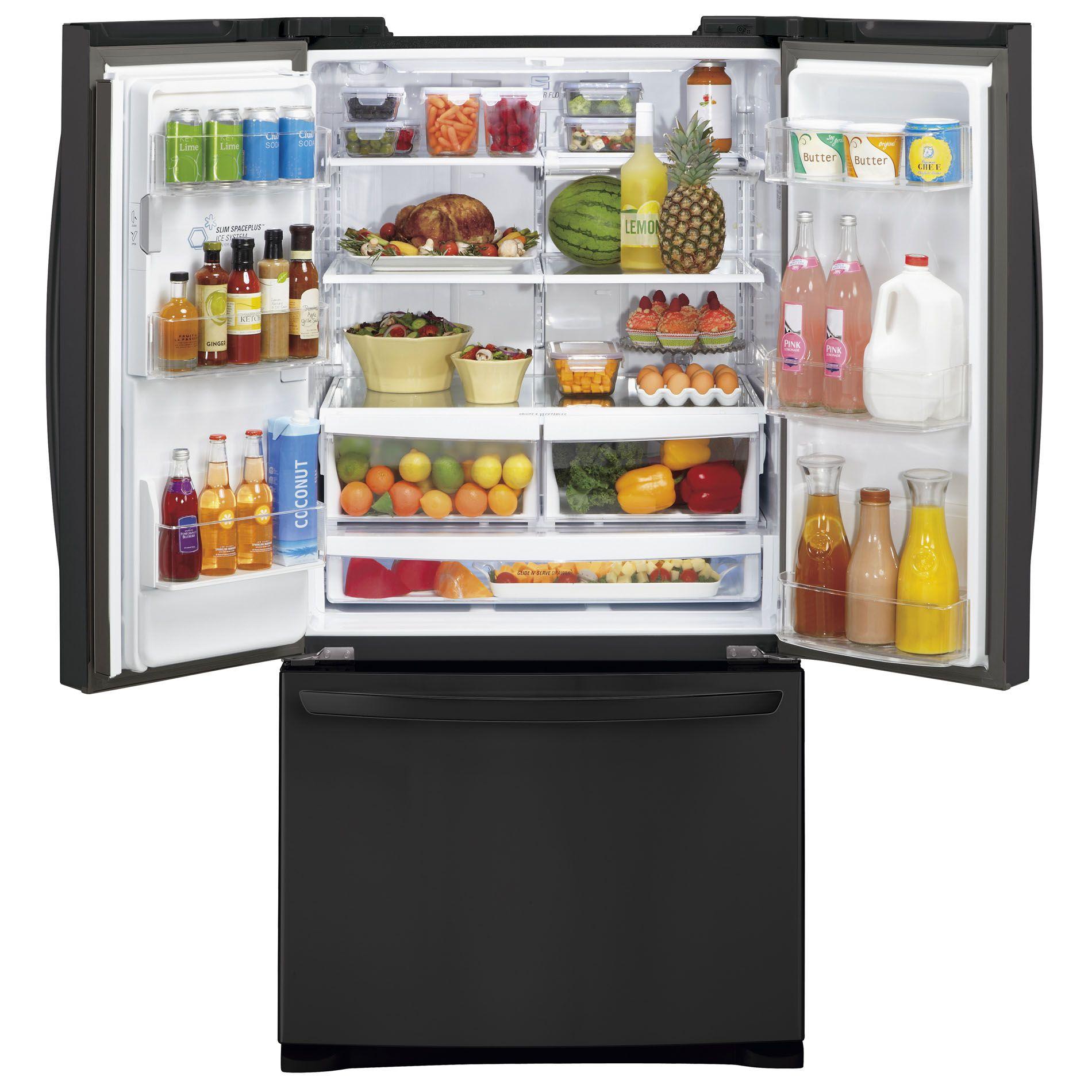 LG 27 cu. ft.  French Door Bottom-Freezer Refrigerator - Black