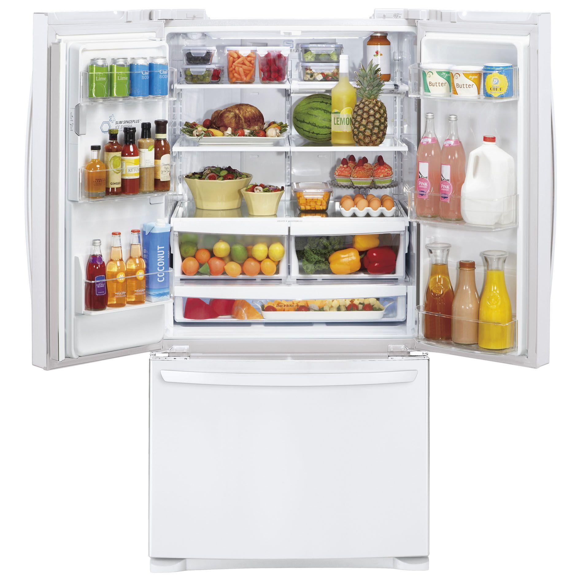 LG 27 cu. ft.  French Door Bottom-Freezer Refrigerator - White