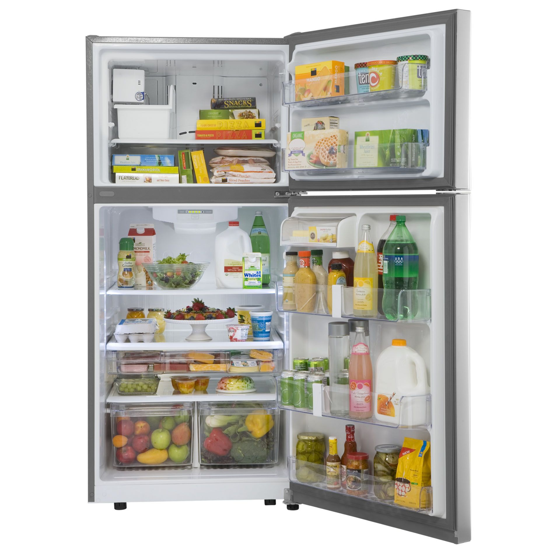 Kenmore 20 cu. ft. Stainless Steel Top-Freezer Refrigerator with Icemaker