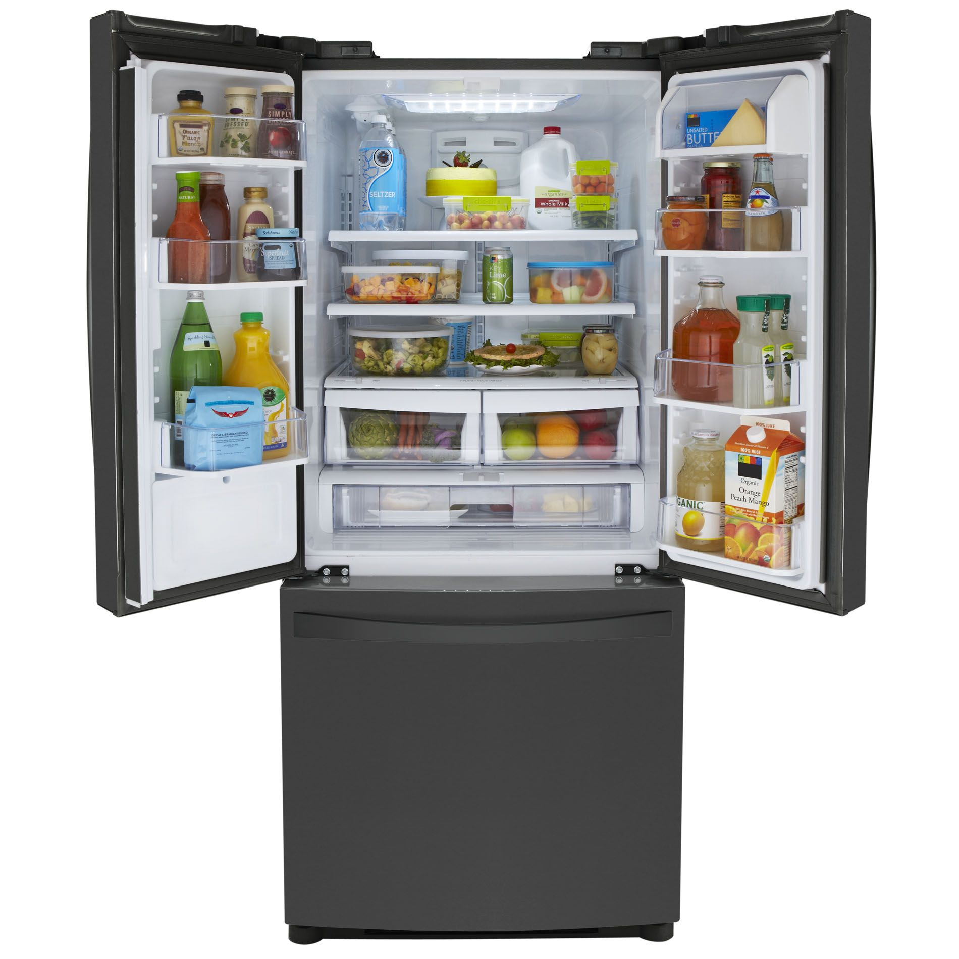 Kenmore Elite 20 cu. ft. French-Door Bottom-Freezer Refrigerator - Black