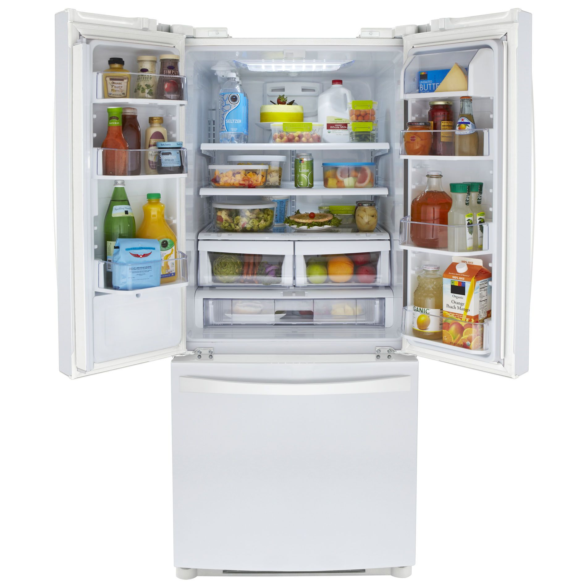 Kenmore Elite 20 cu. ft. French-Door Bottom-Freezer Refrigerator - White