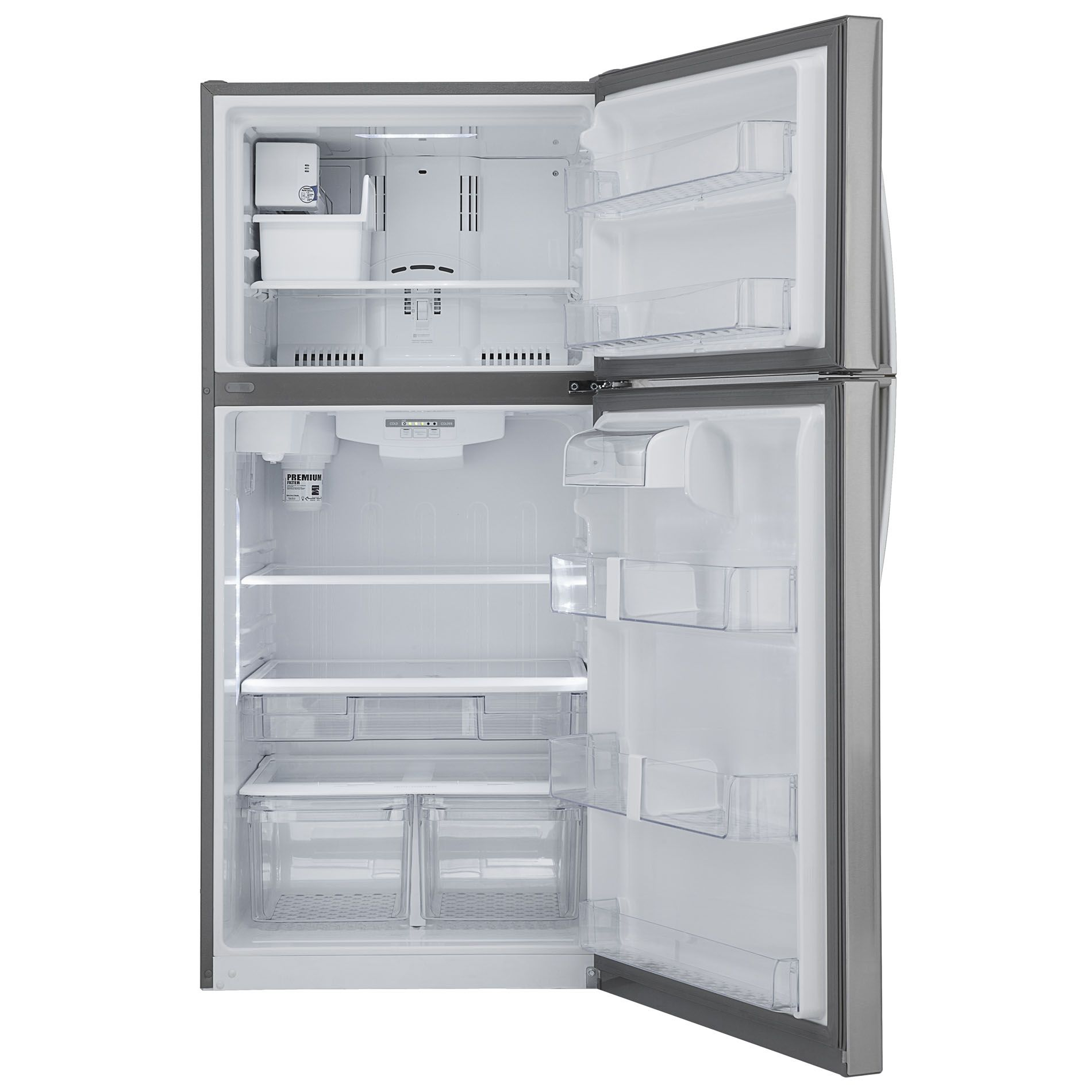 Kenmore 20 cu. ft. Stainless Steel Top-Freezer Refrigerator with Internal Water Dispenser