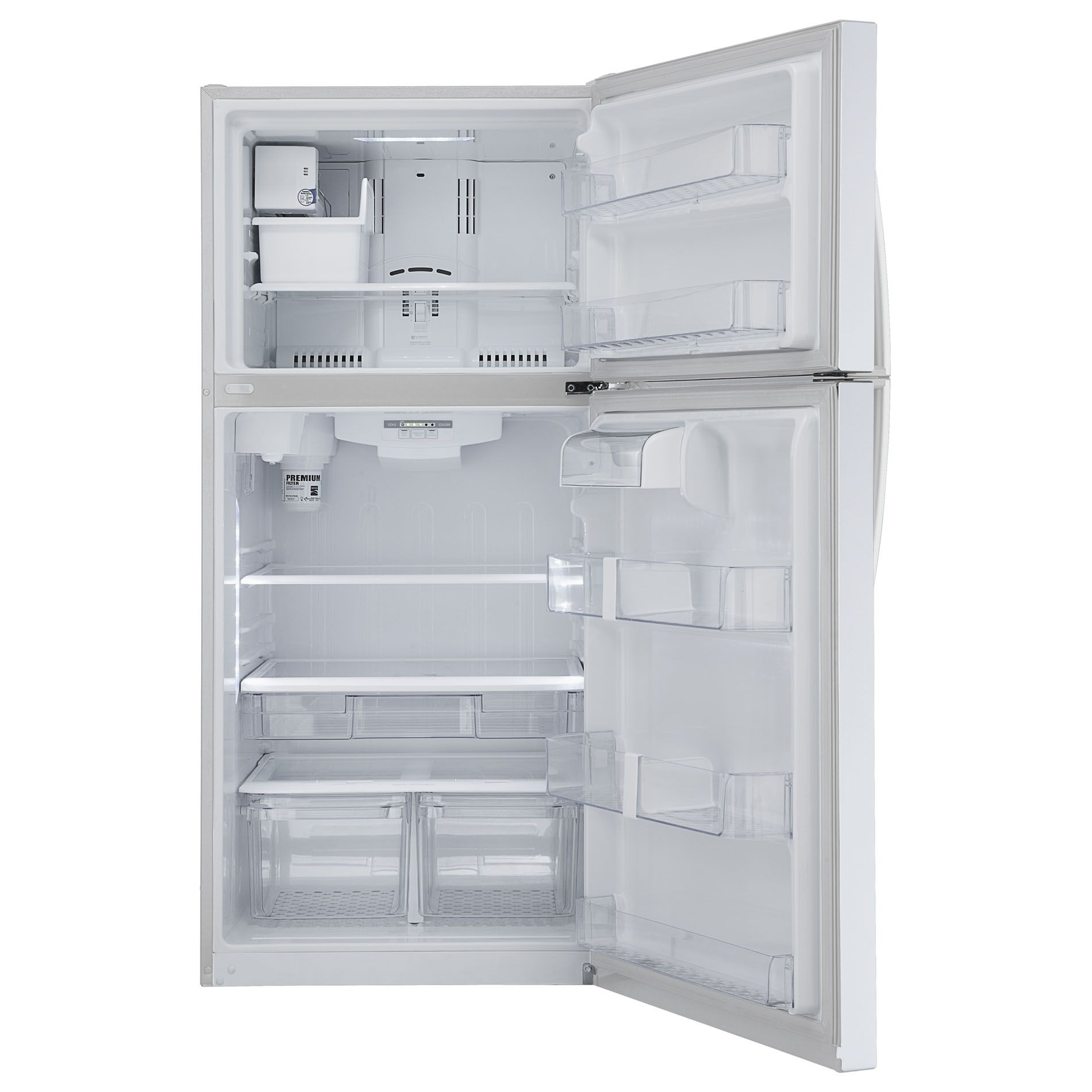Kenmore 20 cu. ft. White Top-Freezer Refrigerator with Internal Water Dispenser
