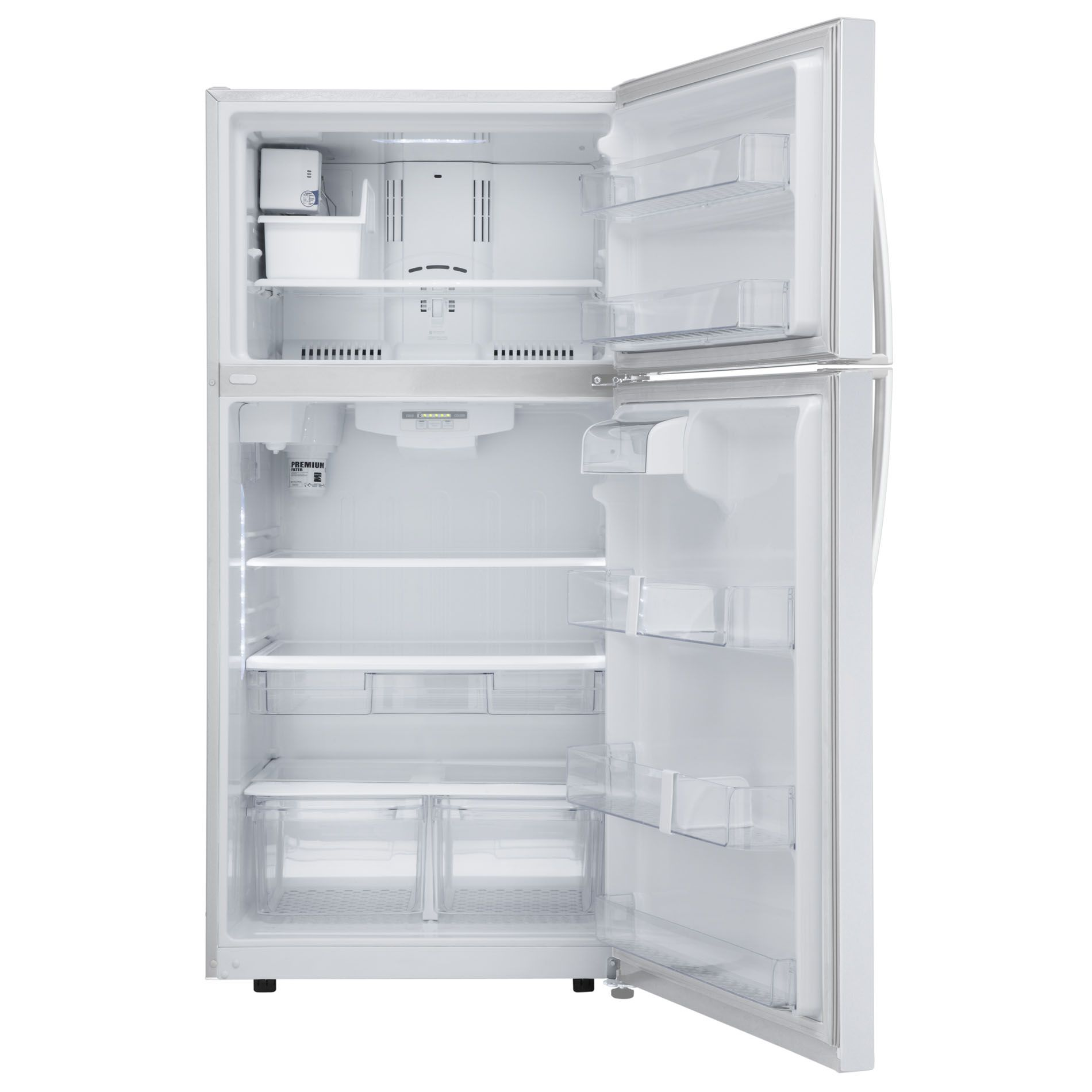Kenmore 24 cu. ft. Top-Freezer Refrigerator w/ Internal Water Dispenser - White