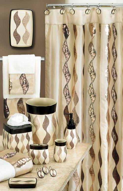 Popular Bath Products Shimmer Gold 6x6 Shower Curtain Home Bed Bath Bath Bathroom