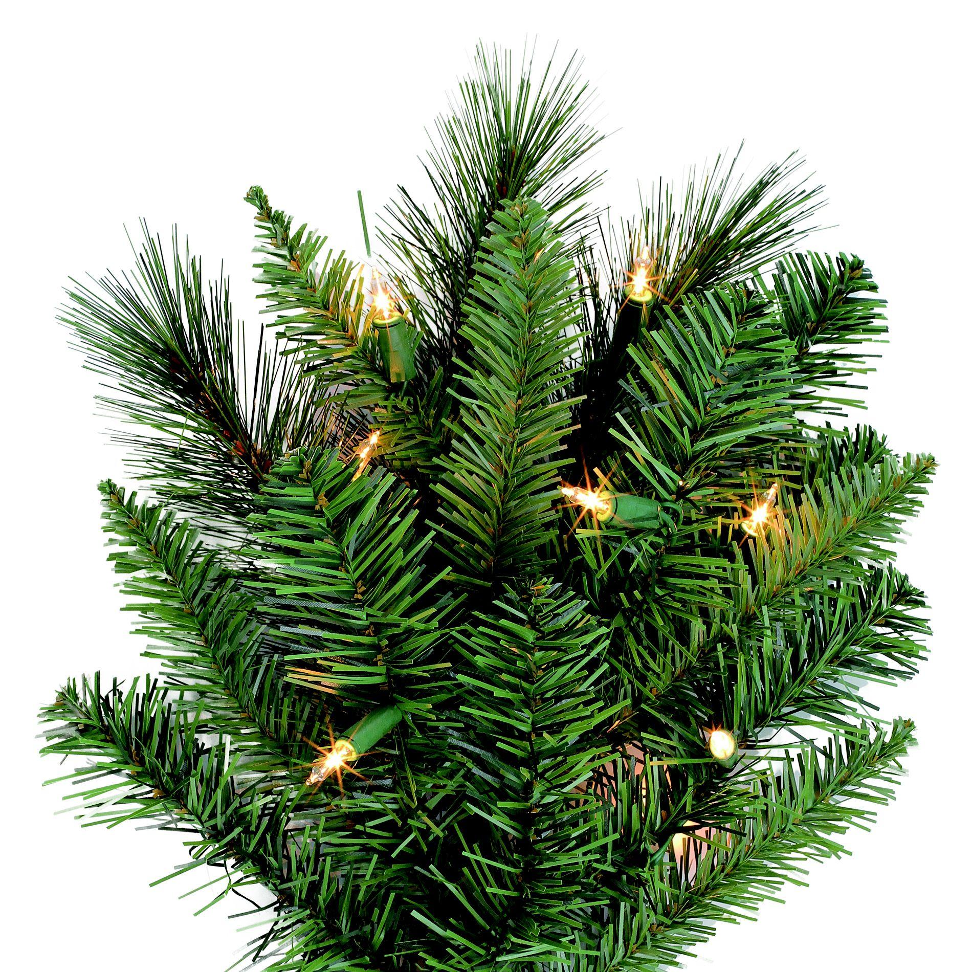 6.5 Ft Pre-Lit Clear Light Aspen Slim Pine Artificial Christmas Tree