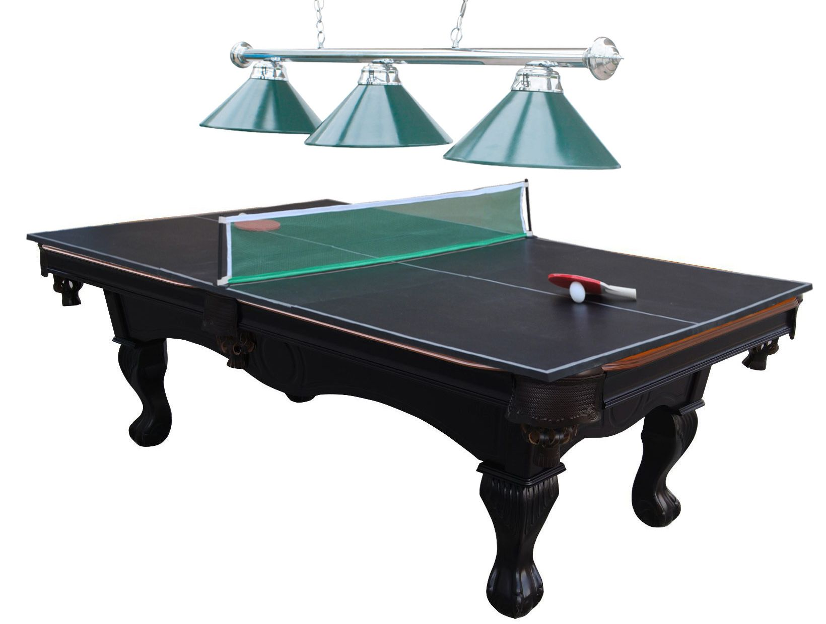 MD Sports 8ft Braeburn Billiard Table w/ Table Tennis and Lamp (Box one of two- MUST PURCHASE BOTH ITEMS TO GET A COMPLETE TABLE)