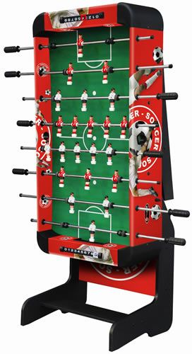 "Playcraft Sport 48"" Foosball Table with Folding Leg - Red"