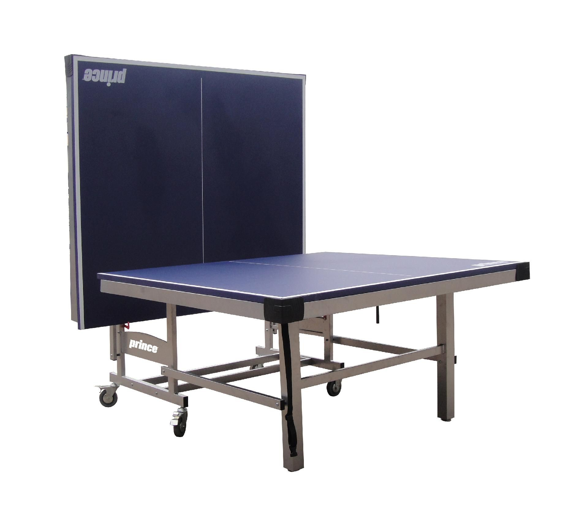Prince Challenger Table Tennis Table w/ BONUS Accessory Rack- Blue