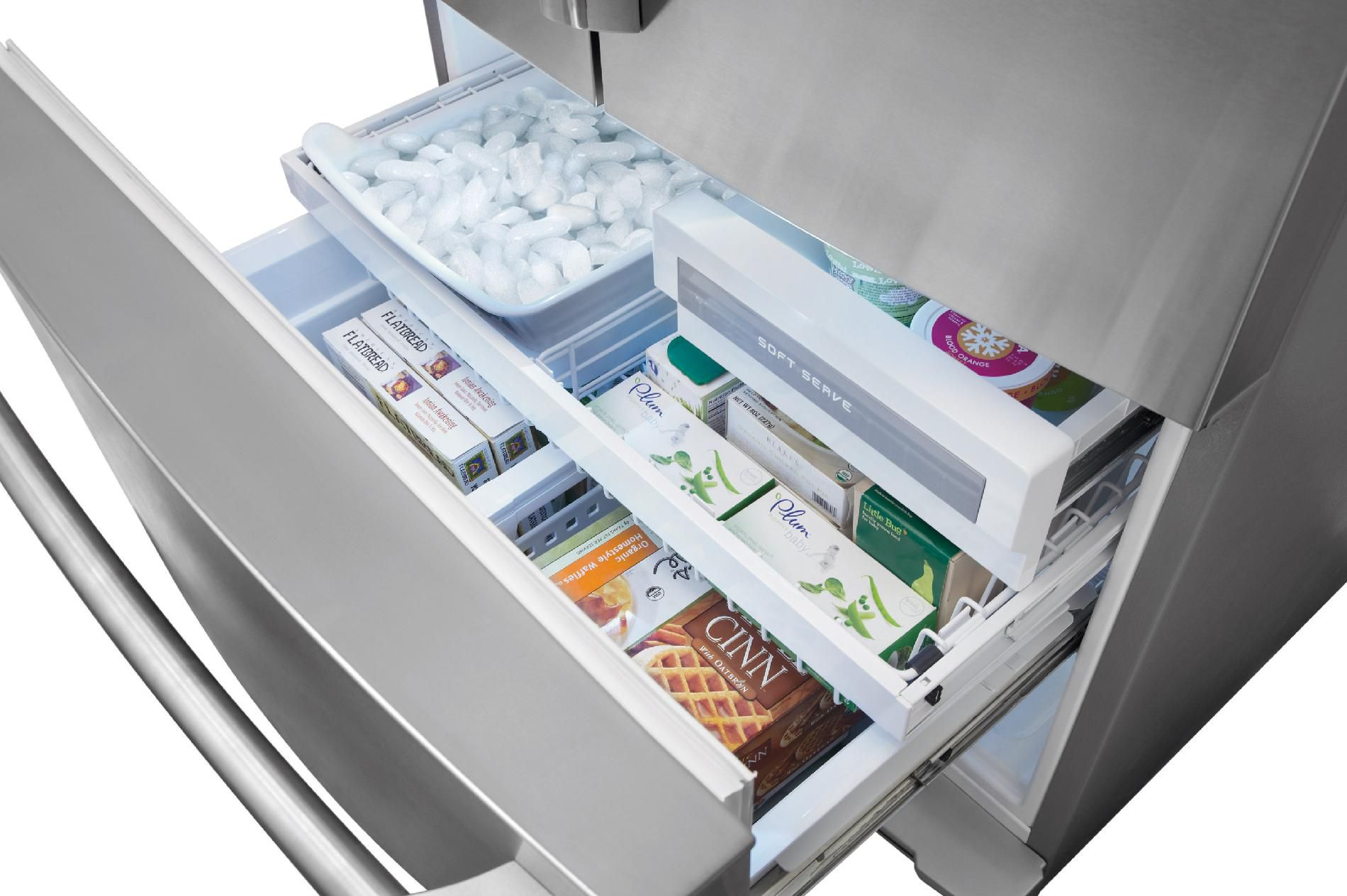 Electrolux 23 cu.ft. Counter-depth French Door Refrigerator with Wave-Touch™ Controls - Stainless Steel