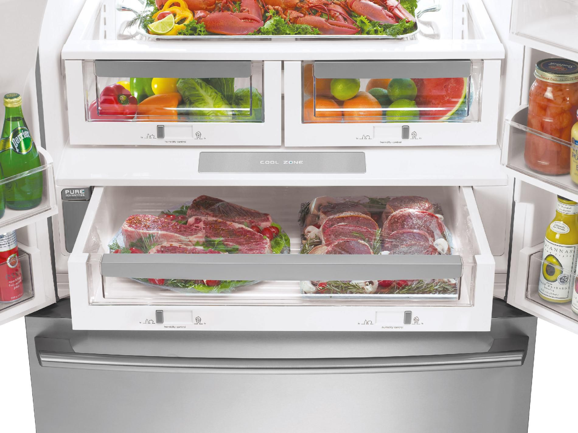 Electrolux 23 cu. ft. Counter-depth French Door Refrigerator w/ IQ-Touch™ Controls - Stainless Steel