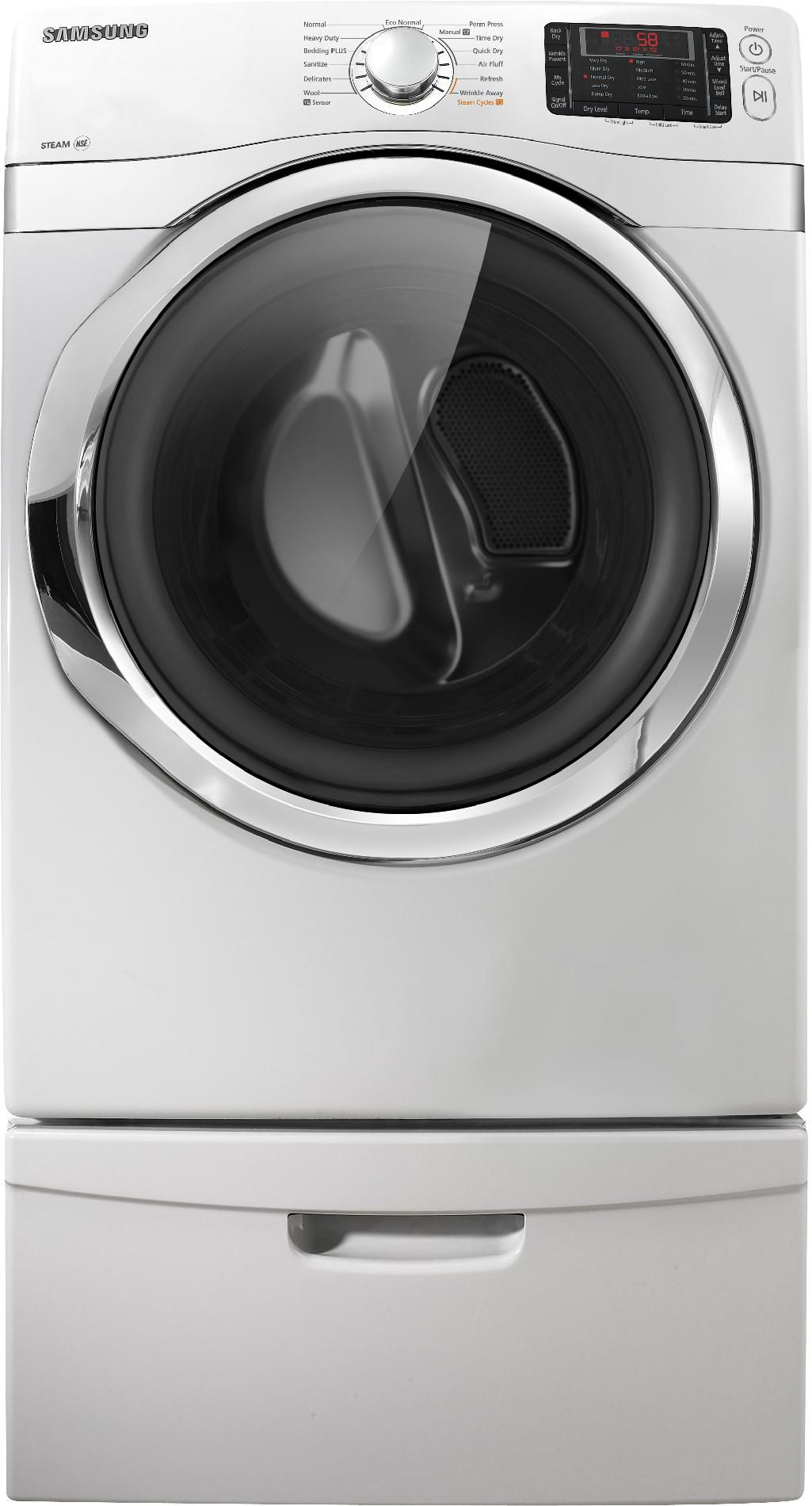 Samsung 7.5 cu. ft.  Steam Gas Dryer - White
