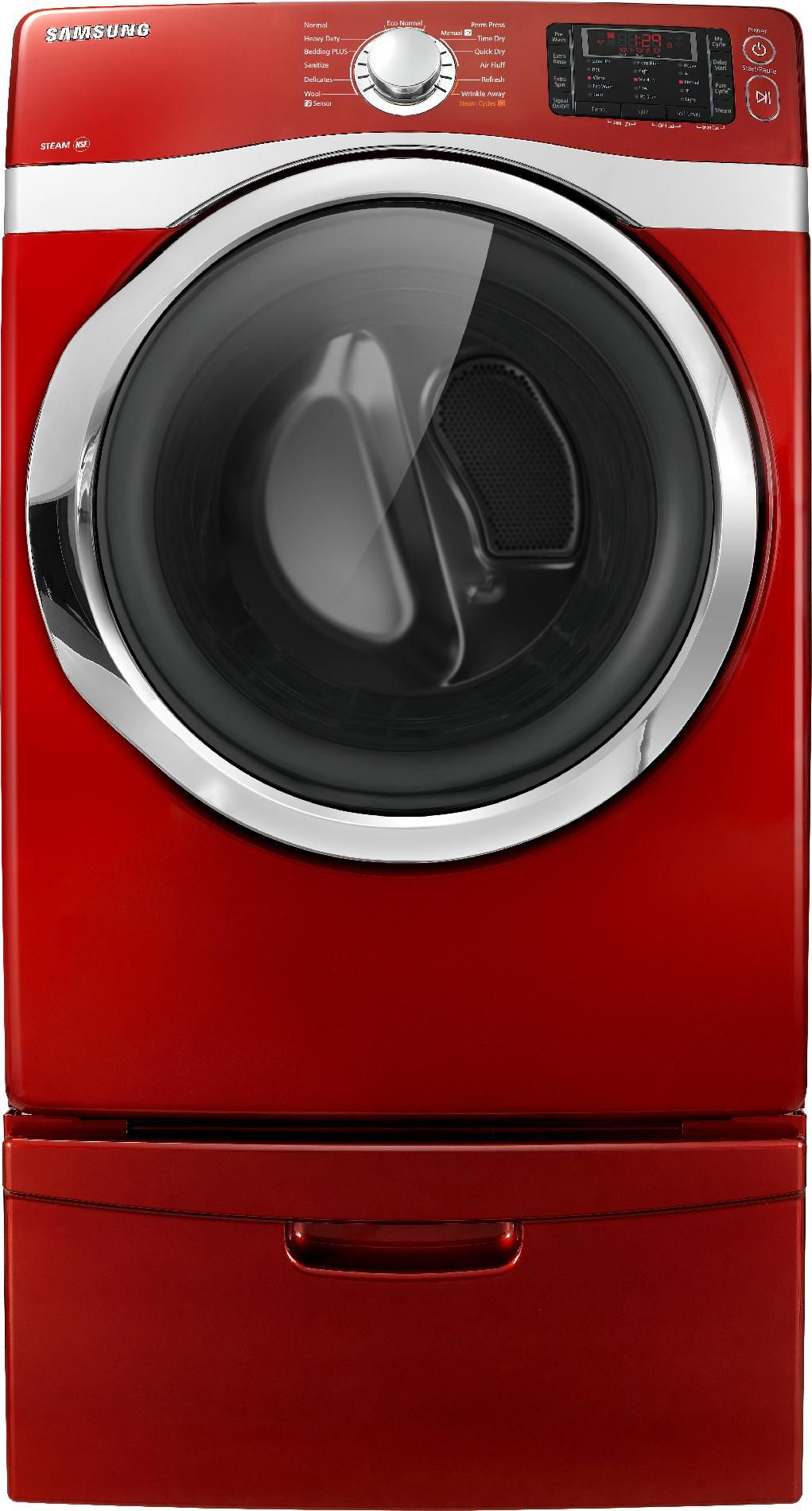 Samsung 7.5 cu. ft. Steam Electric Dryer - Red