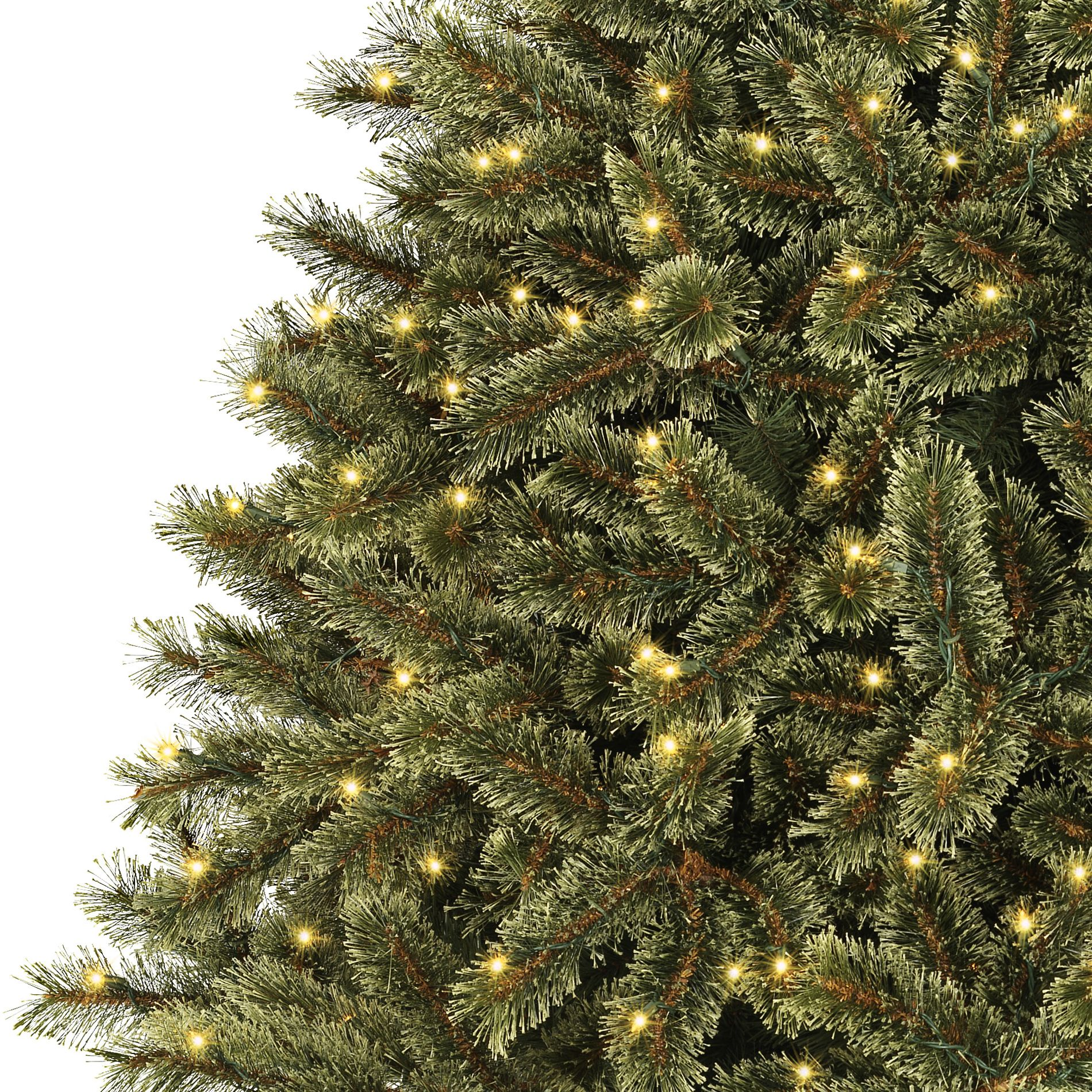 Ty Pennington Style 7.5ft Cashmere Mixed Pine Christmas Tree with 600 Clear Lights