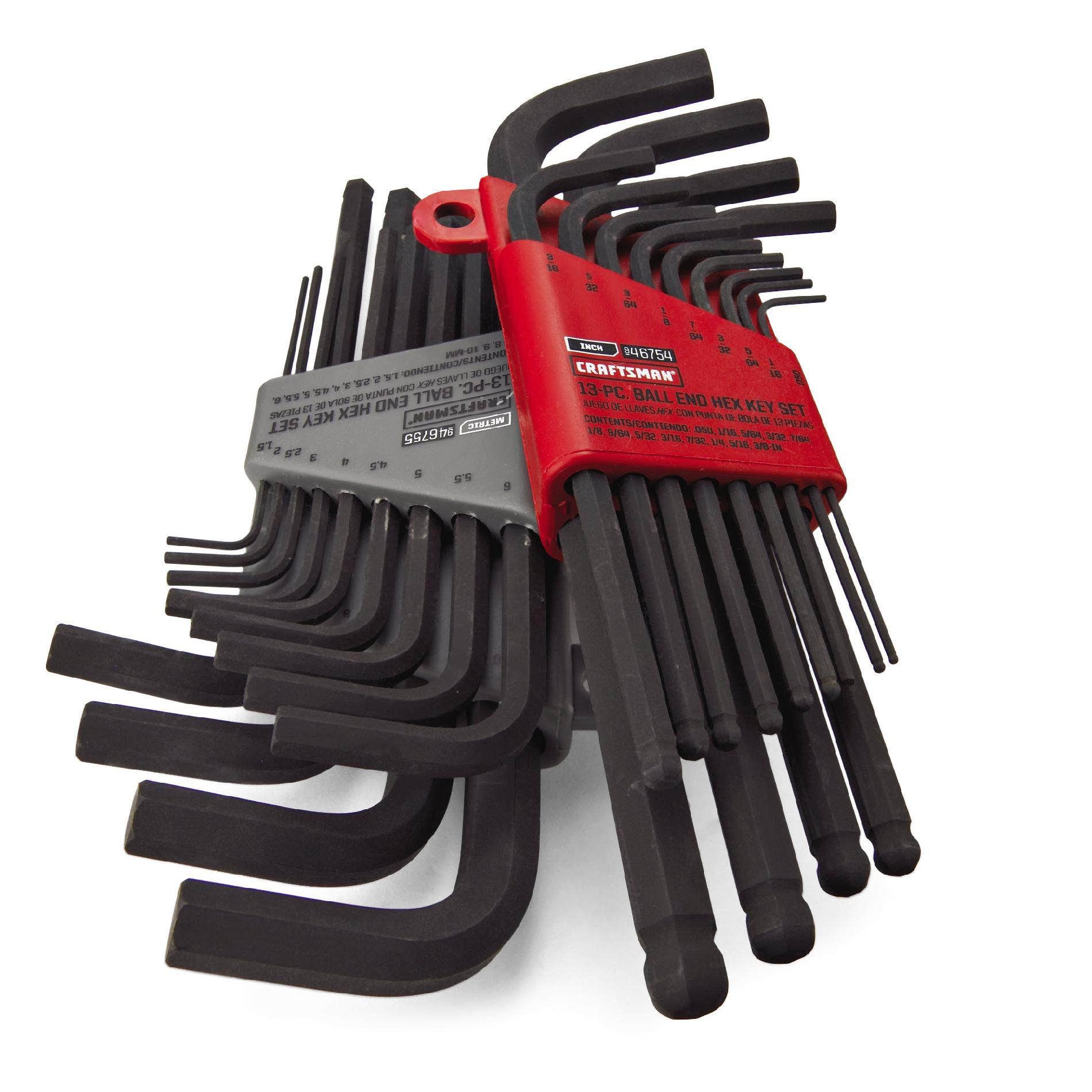 Craftsman 26 pc. Standard and Metric Ball End Hex Key Set