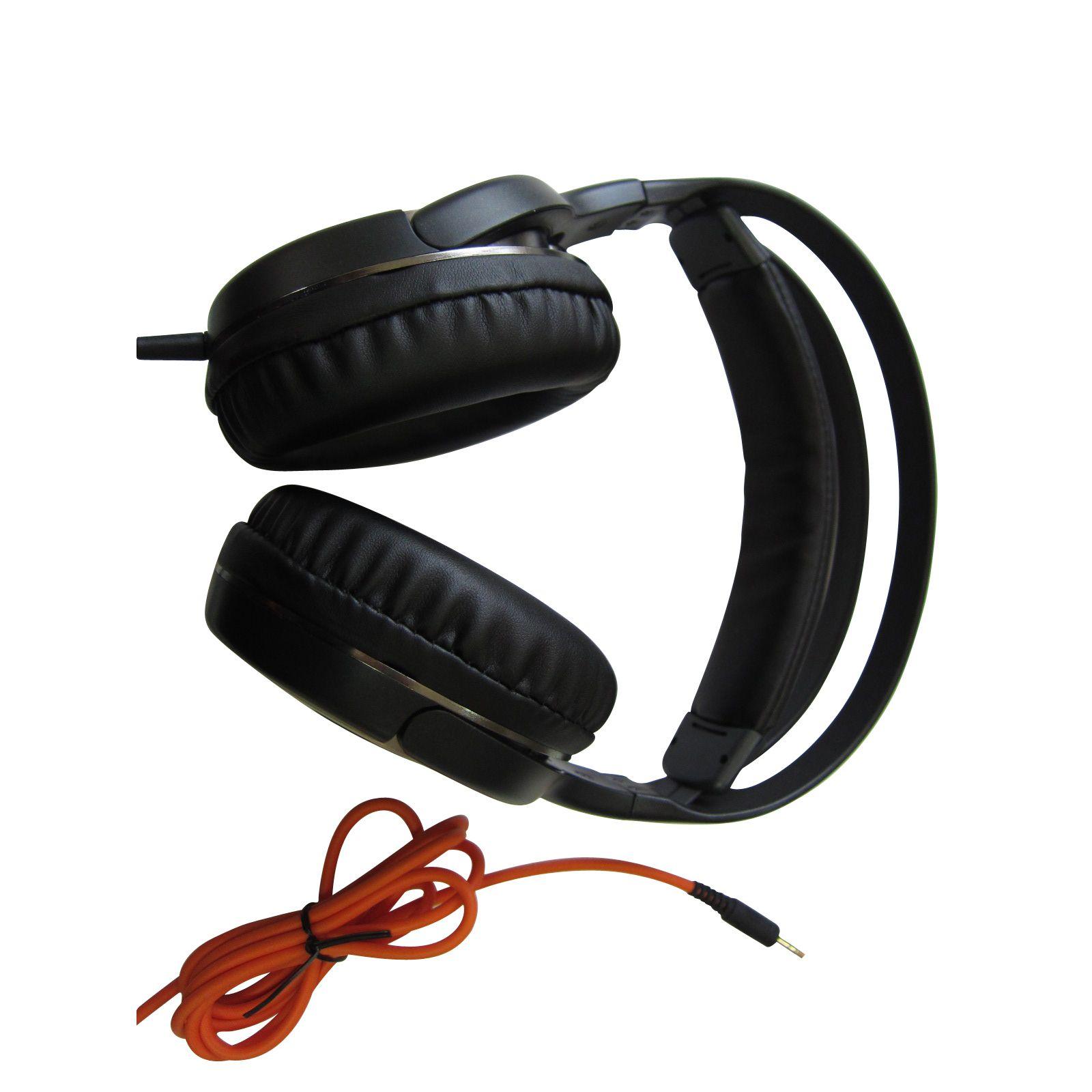 Alphaline™ Stereo Headphones- Black & Silver