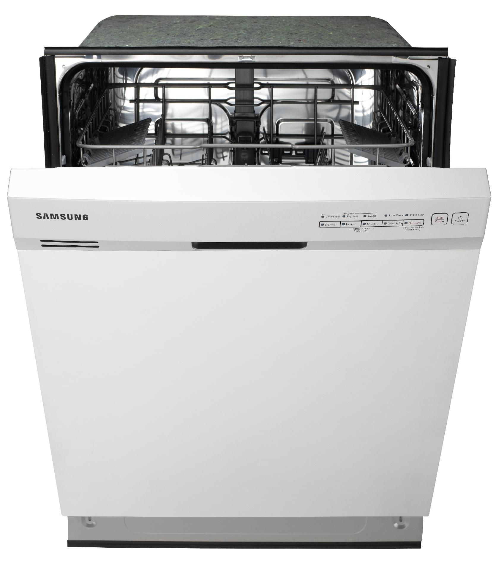 "Samsung 24"" Built-in 4-Cycle Dishwasher - White"