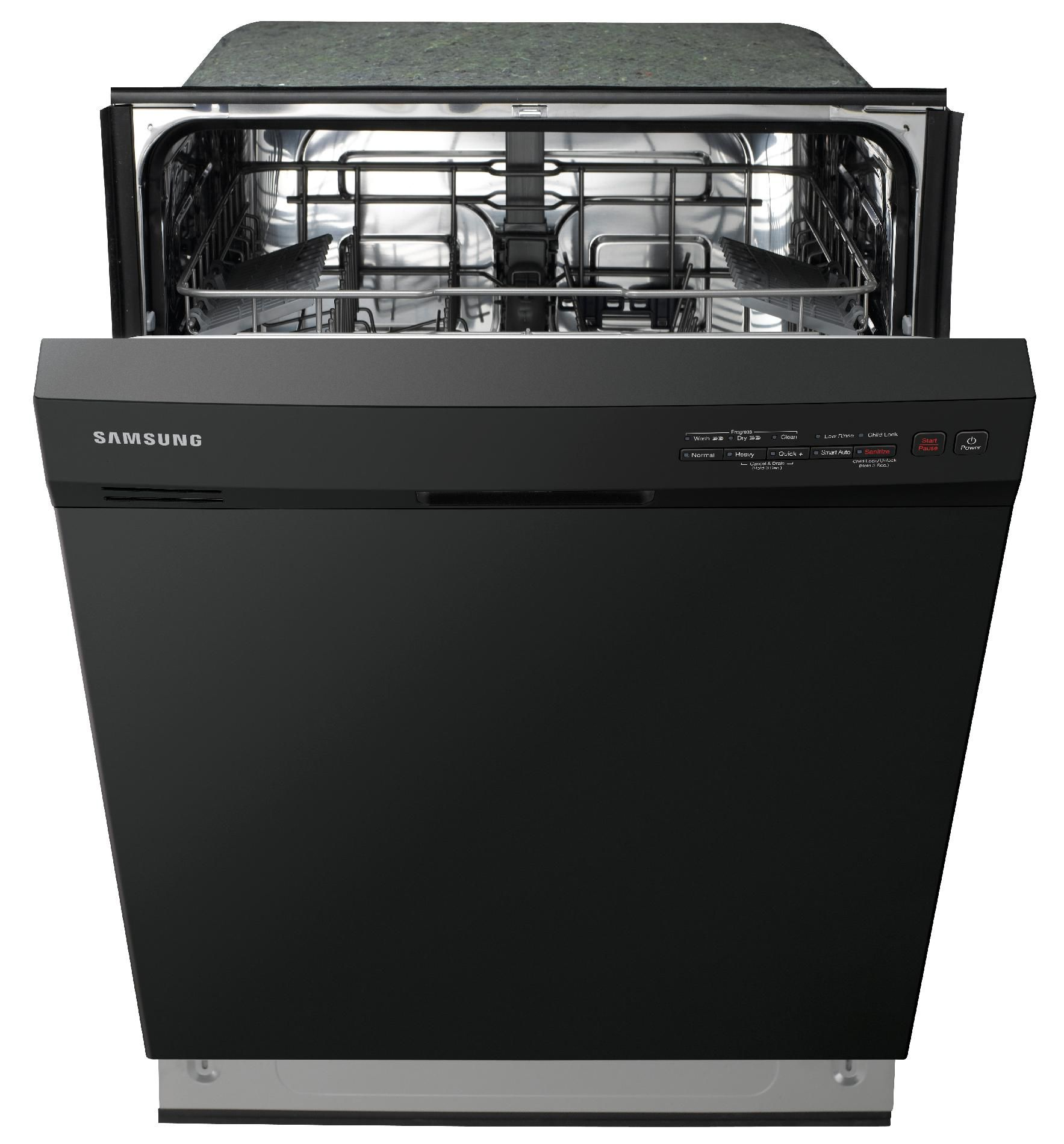 "Samsung 24"" Built-in 4-Cycle Dishwasher - Black"
